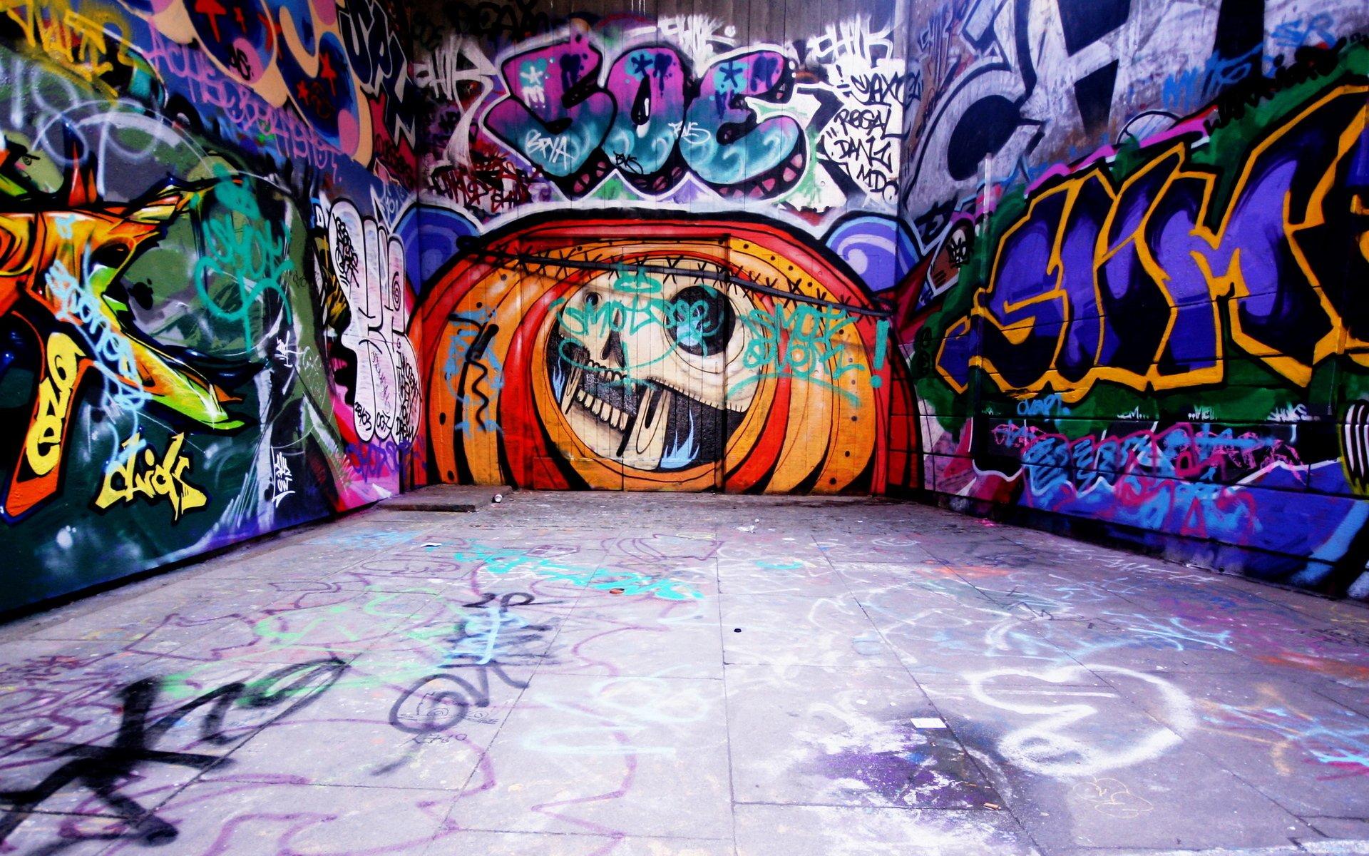Надписью, крутые рисунки на стенах