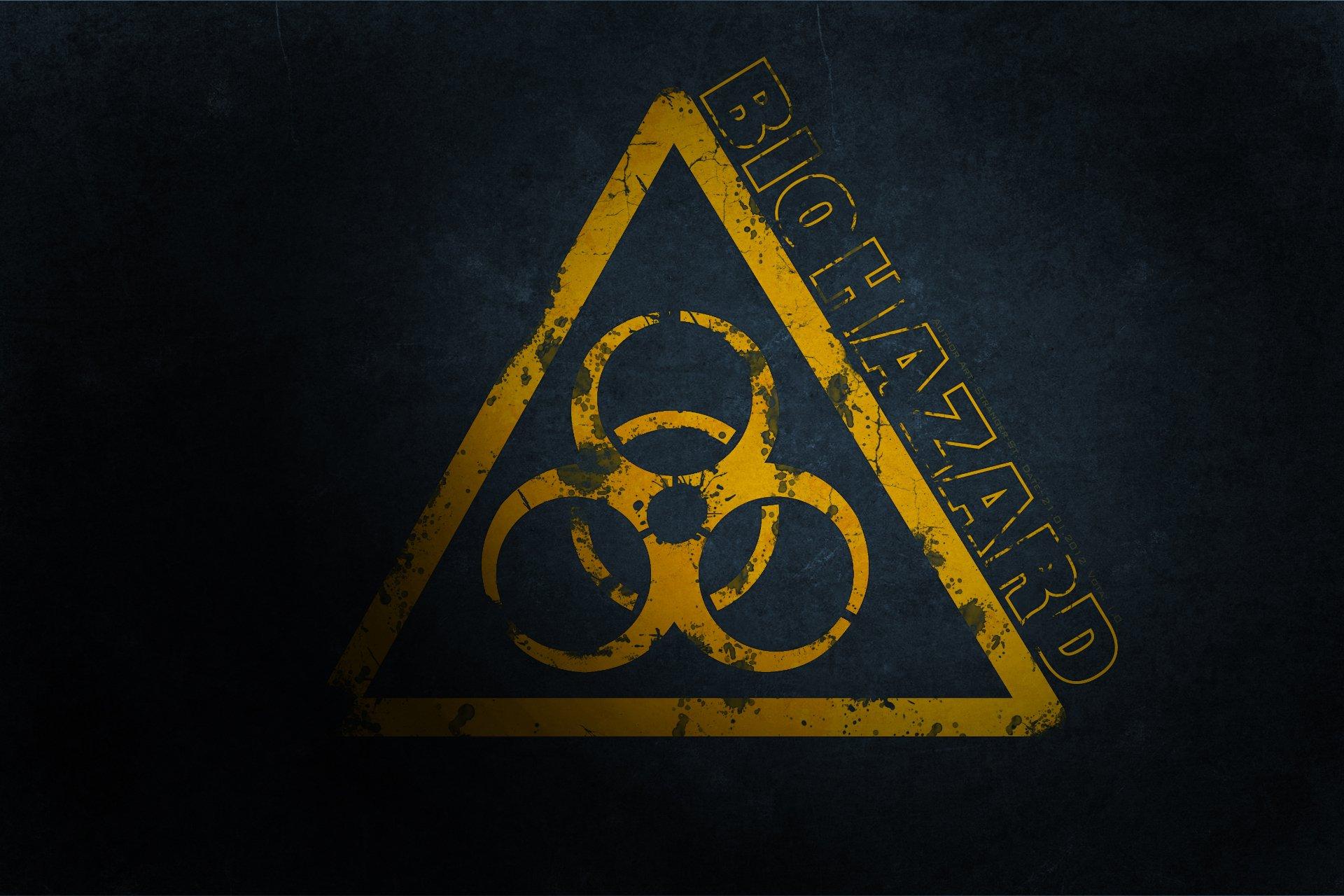 Обои эмблема, биологическое заражение, знак, опасность. Разное foto 7
