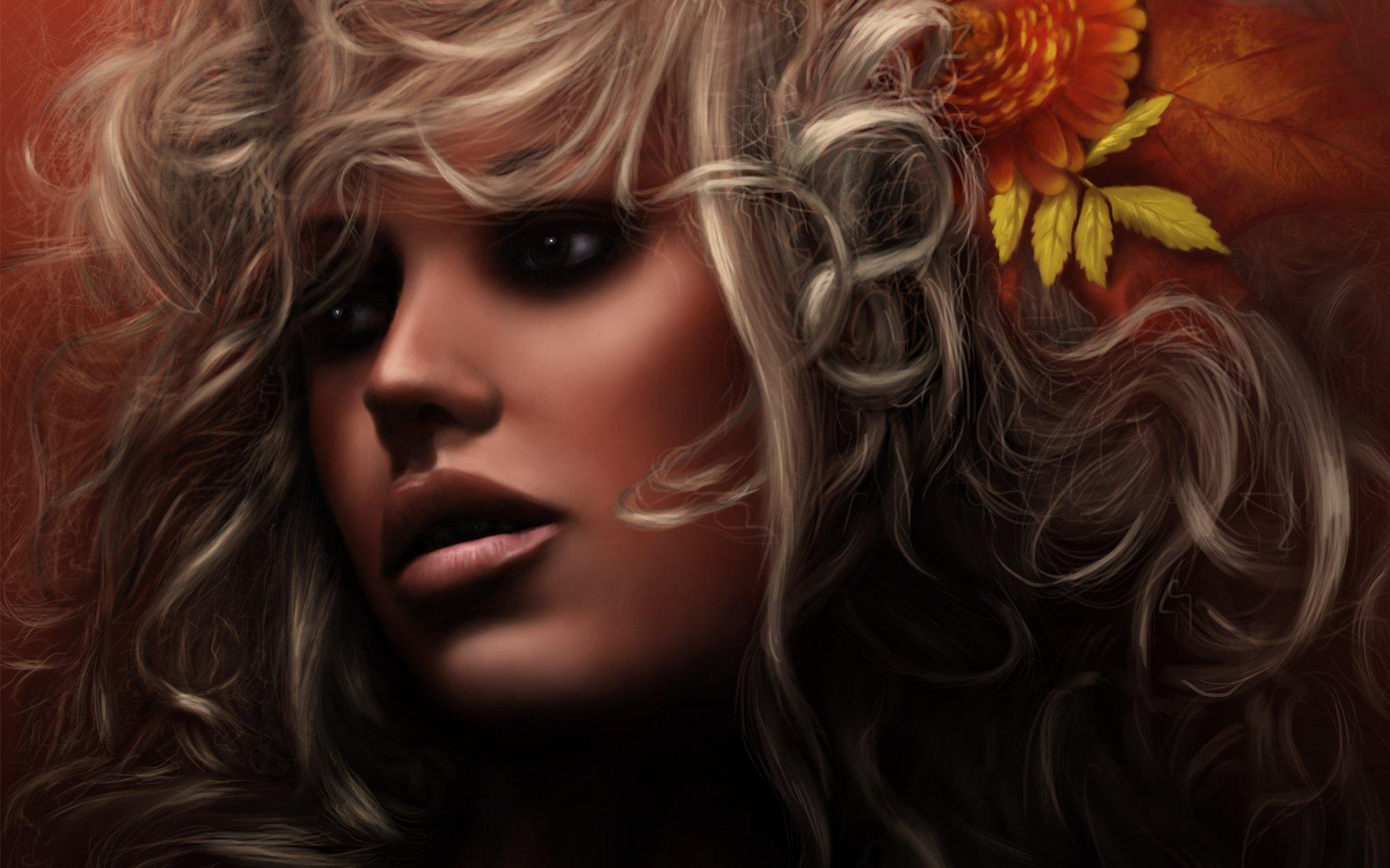 Волосы с цветками без смс