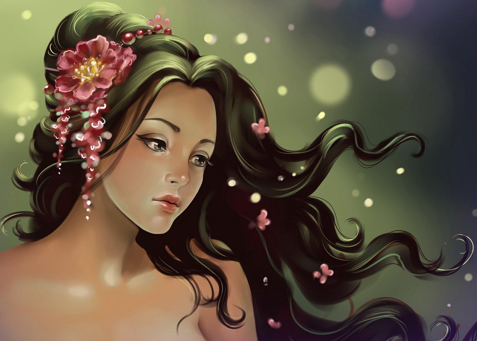 Прикольные картинки девушки красивые нарисованные, курбан-байрам русском