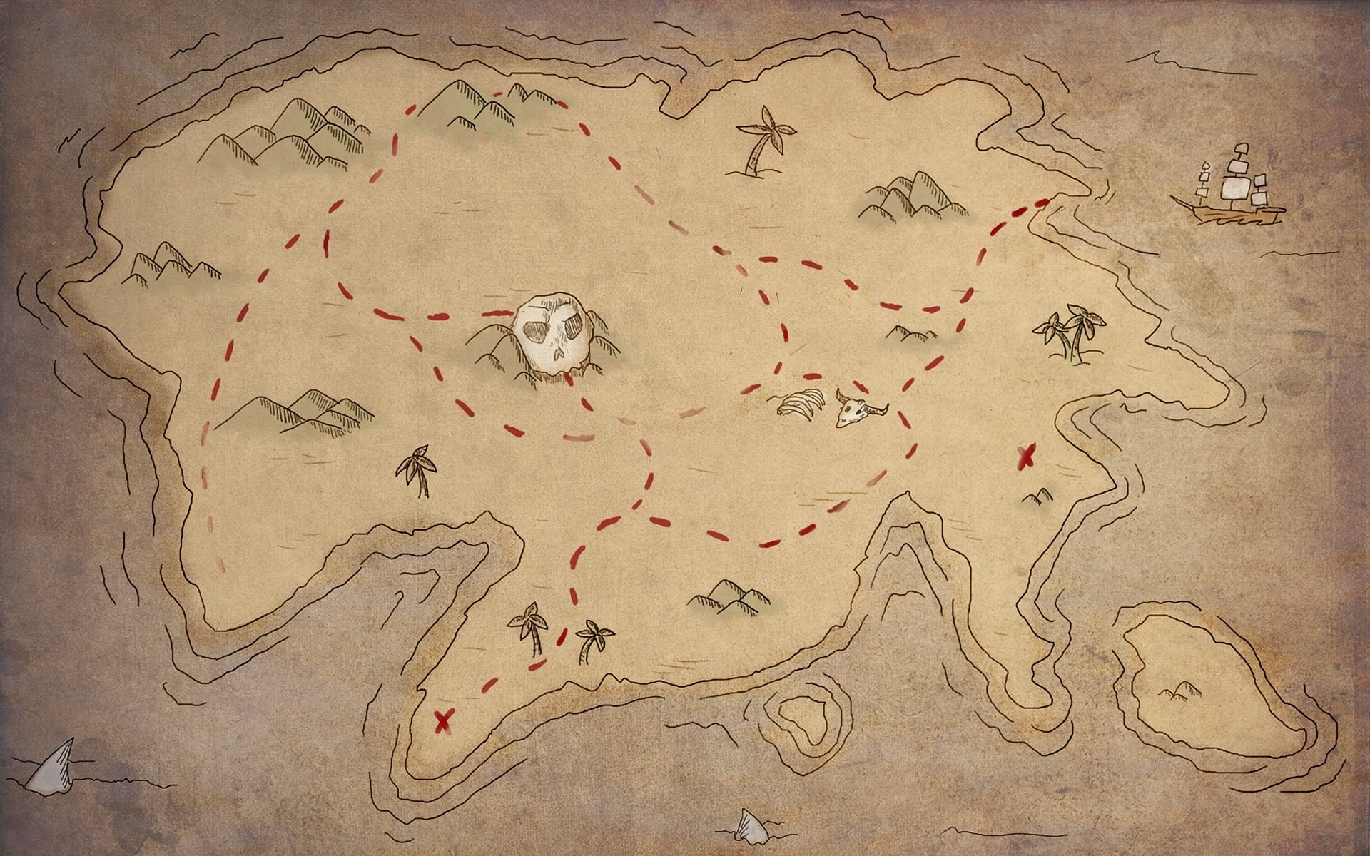 карта острова сокровищ картинки фото