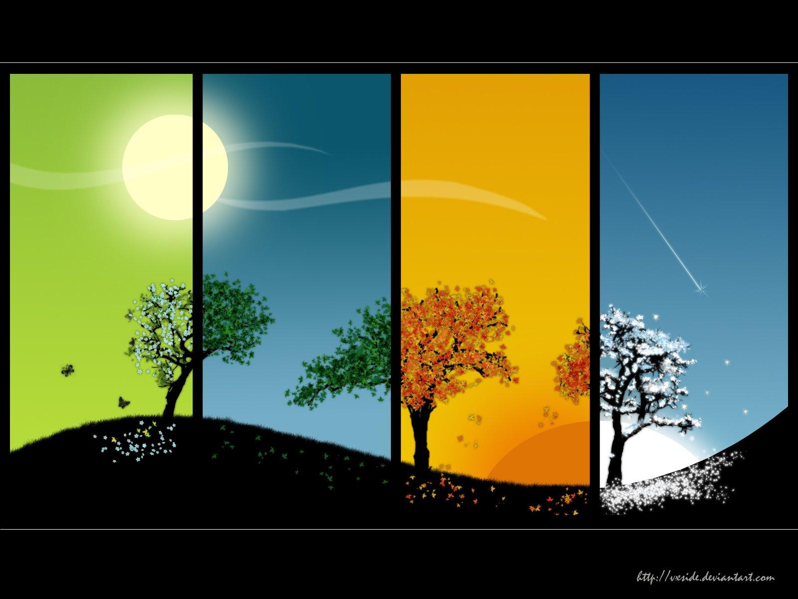 Картинки с надписями осень зима весна лето, открытки дню