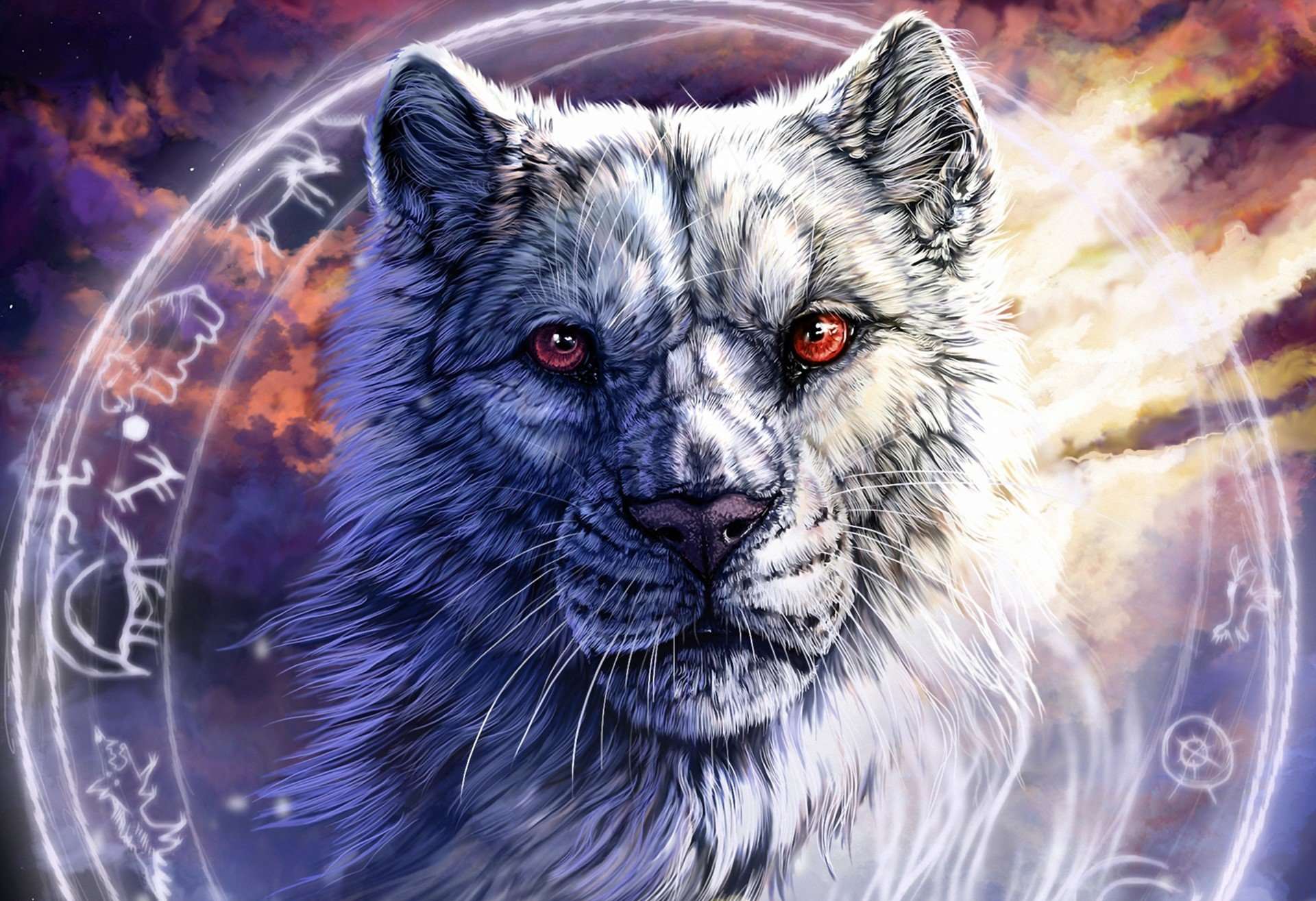 Black wolf fantasy art