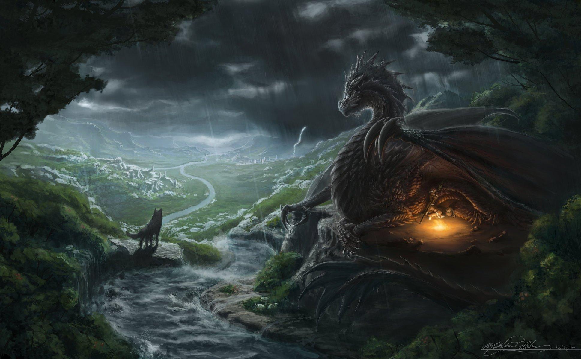 стараемся собирать картинки с драконами на природе стильный