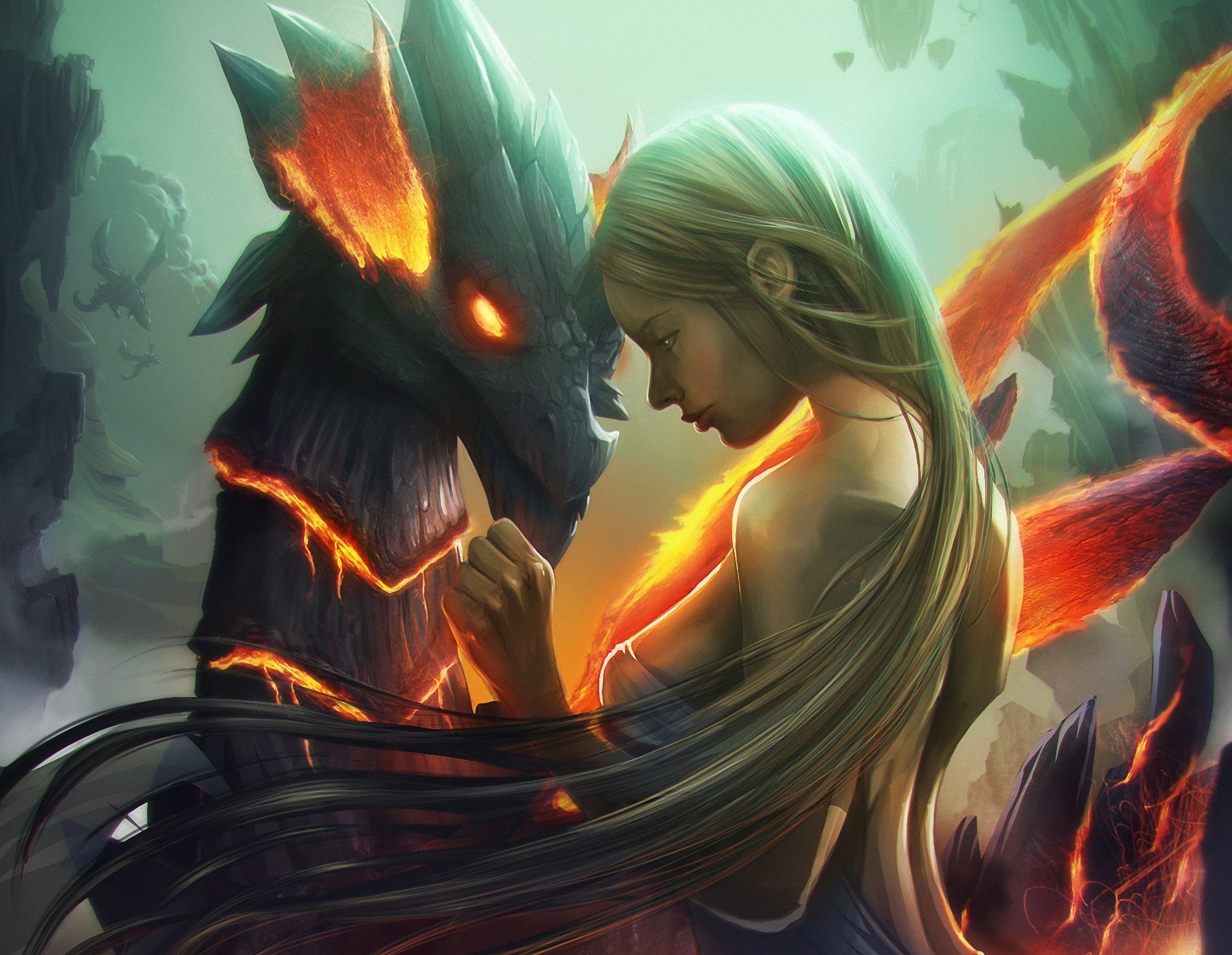 Дракон девушка загрузить