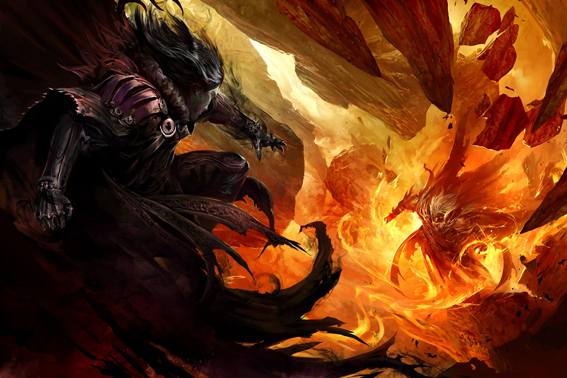 делать картинки воин тьмы огонь компактный