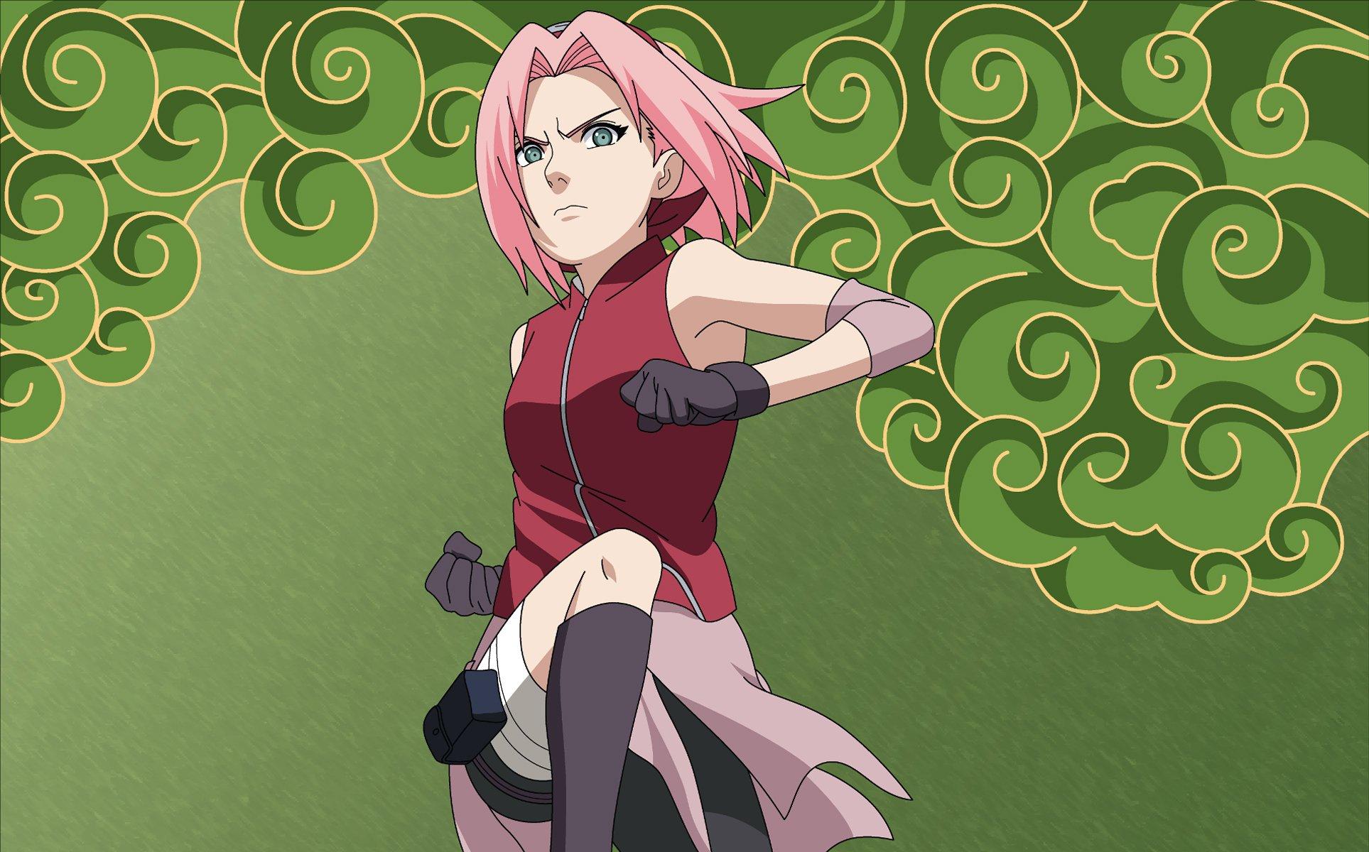 Сакура из аниме наруто картинки