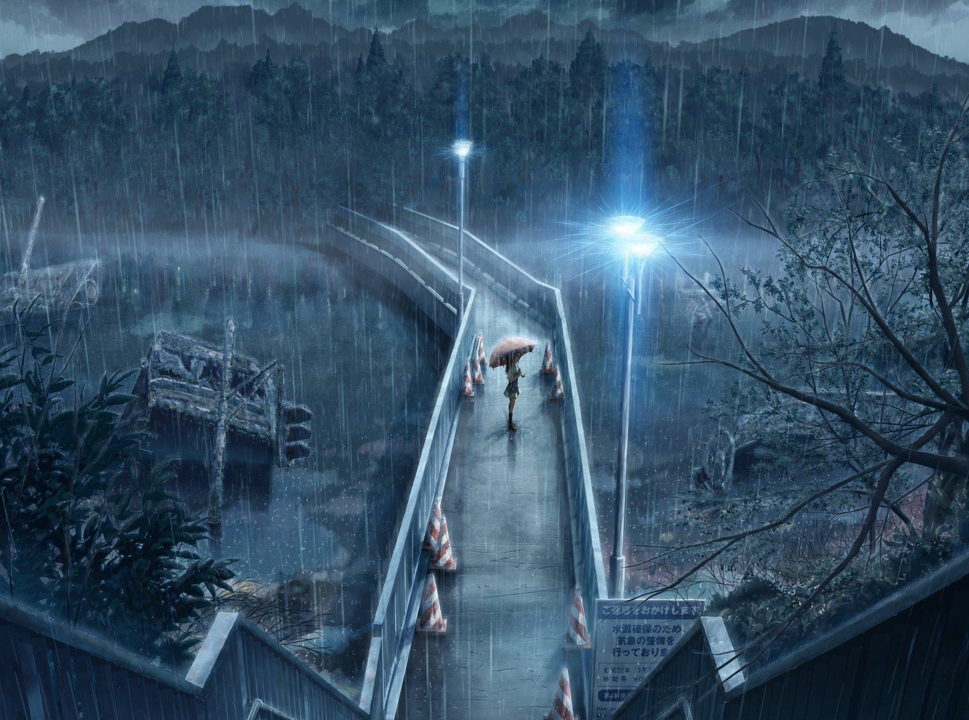 """Обои на которых есть """"Тактический фонарь"""" для Android ...  Дождливый Город Картина"""