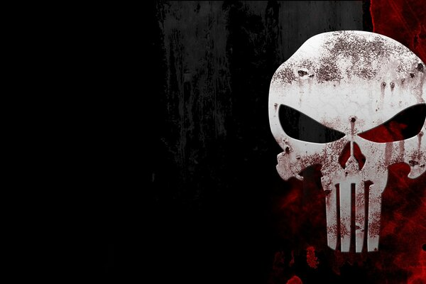 the punisher каратель череп skull кровь фон