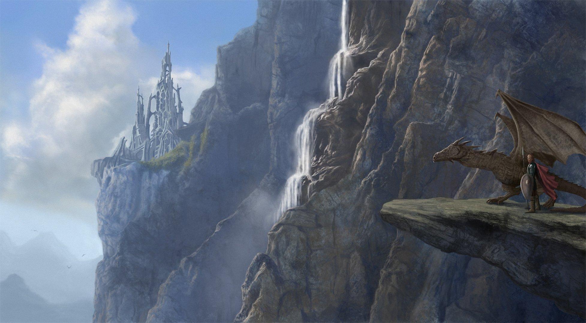 замок крепость обрыв туман скачать