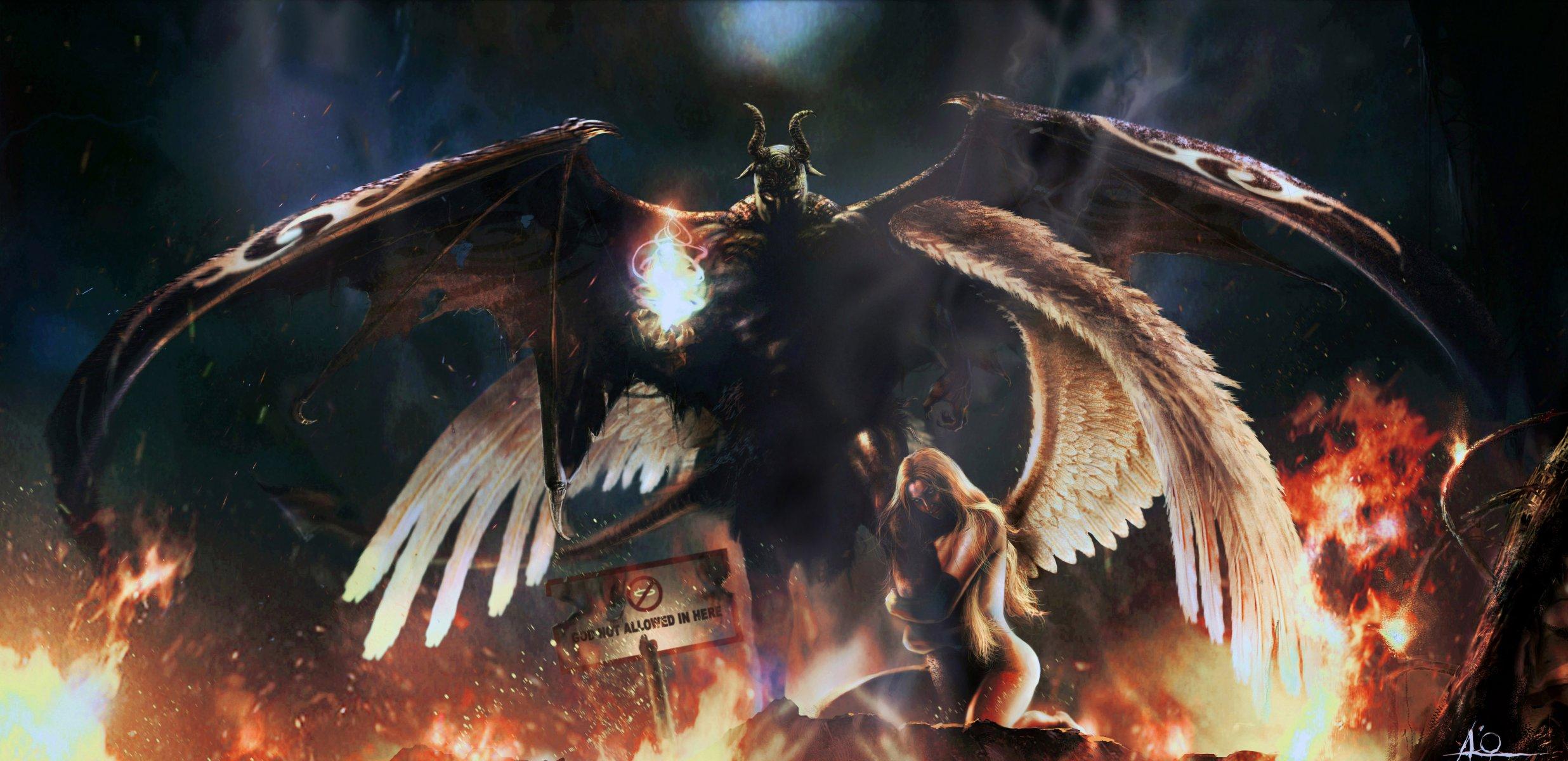 Обои Фантастика, падший ангел, крылья. Фантастика foto 15