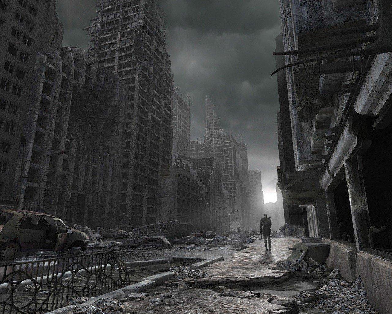 Обои статуя, разрушения, апокалипсис. Фантастика foto 14