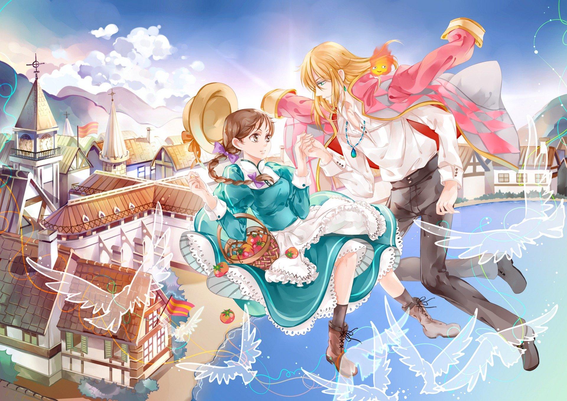 картинки аниме ходячий замок хаула