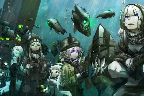 арт kirii kantai collection battleship-symbiotic hime destroyer hime ha-class destroyer he-class light cruiser ho-class light cruiser i-class destroyer ni-class destroyer northern ocean hime re-class