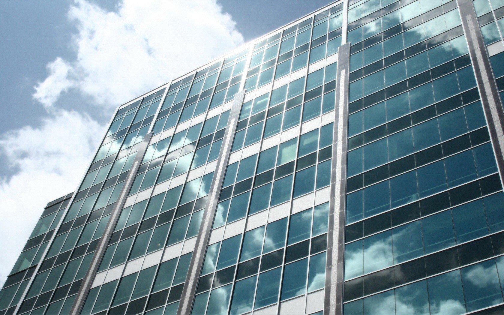 Обои Облака, здания, стекло, небоскребы. Города foto 9