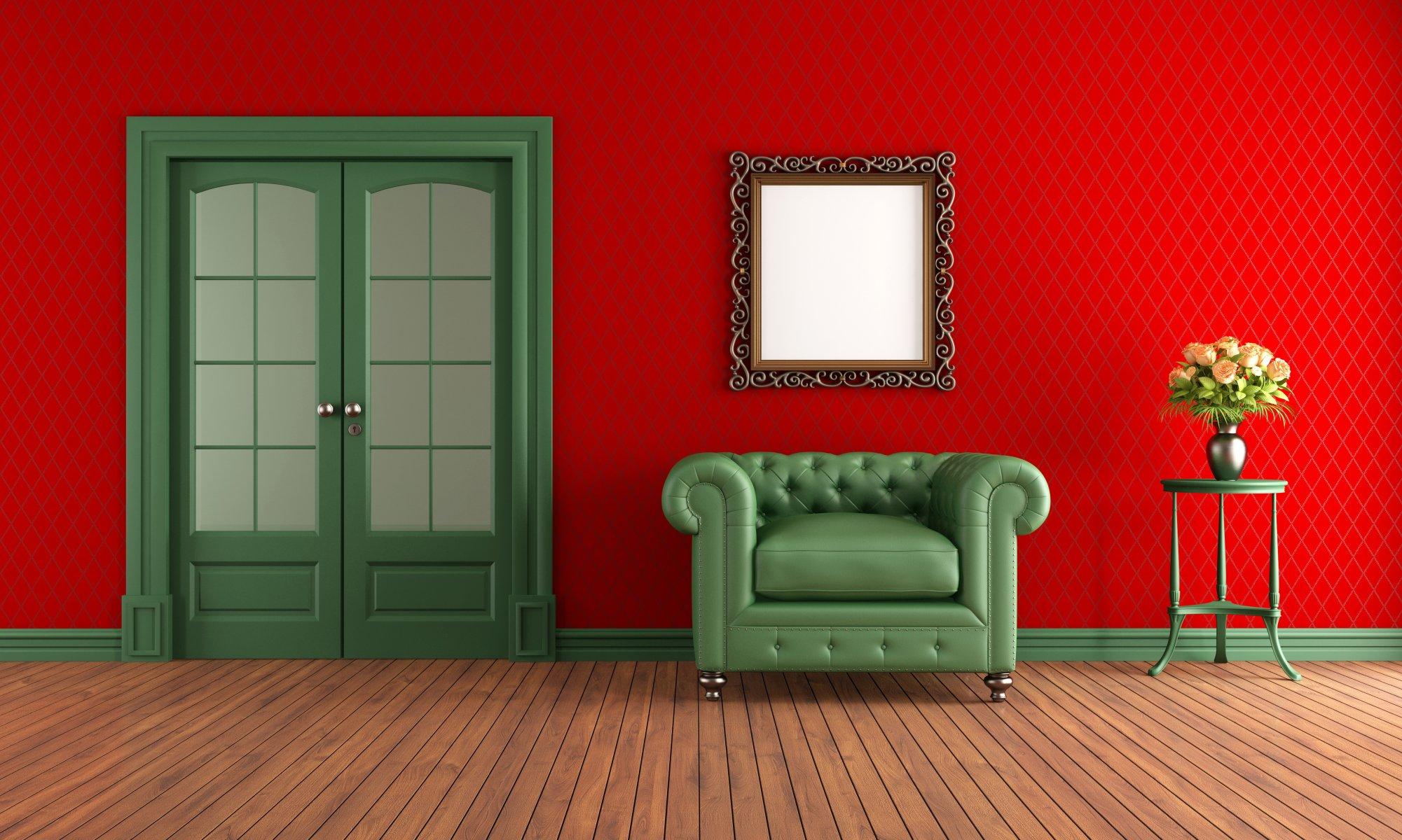 Красный стиль интерьера загрузить