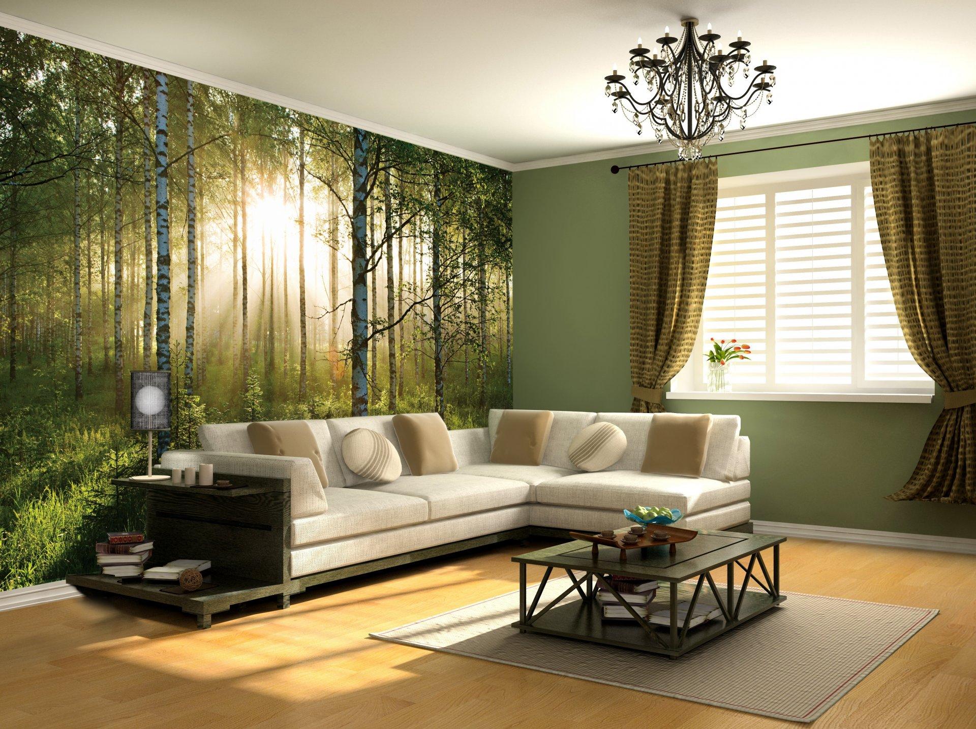 Фотообои лес фото