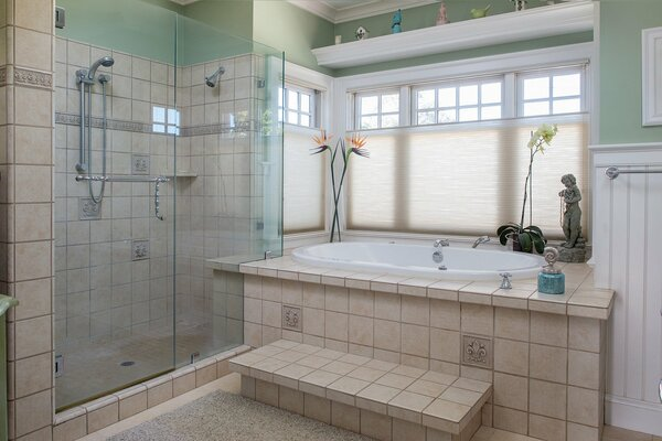 bathroom bath shower home interior