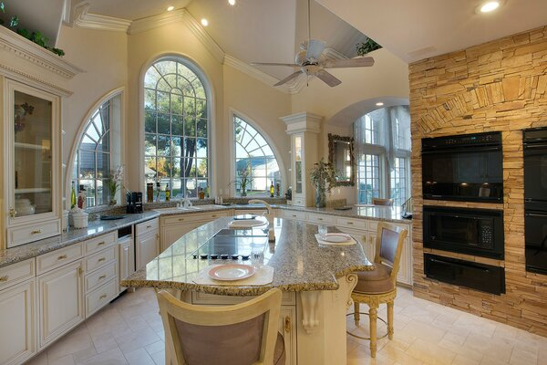 kitchen luxury home ranch