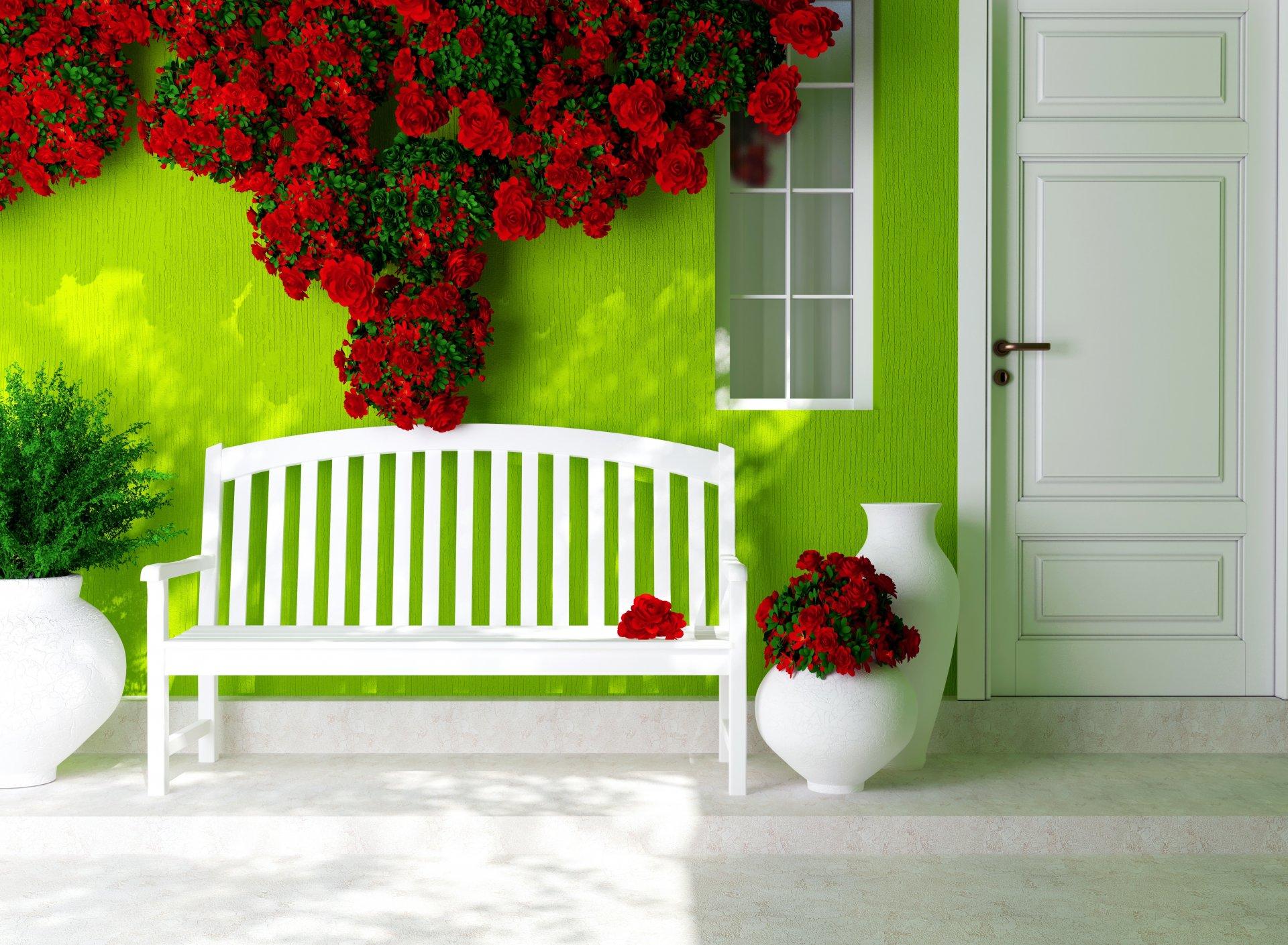 Стены с цветами фото
