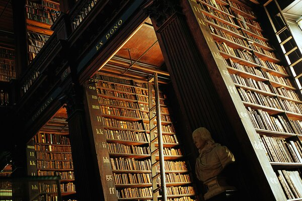 Library staircase books shelving trinity college library
