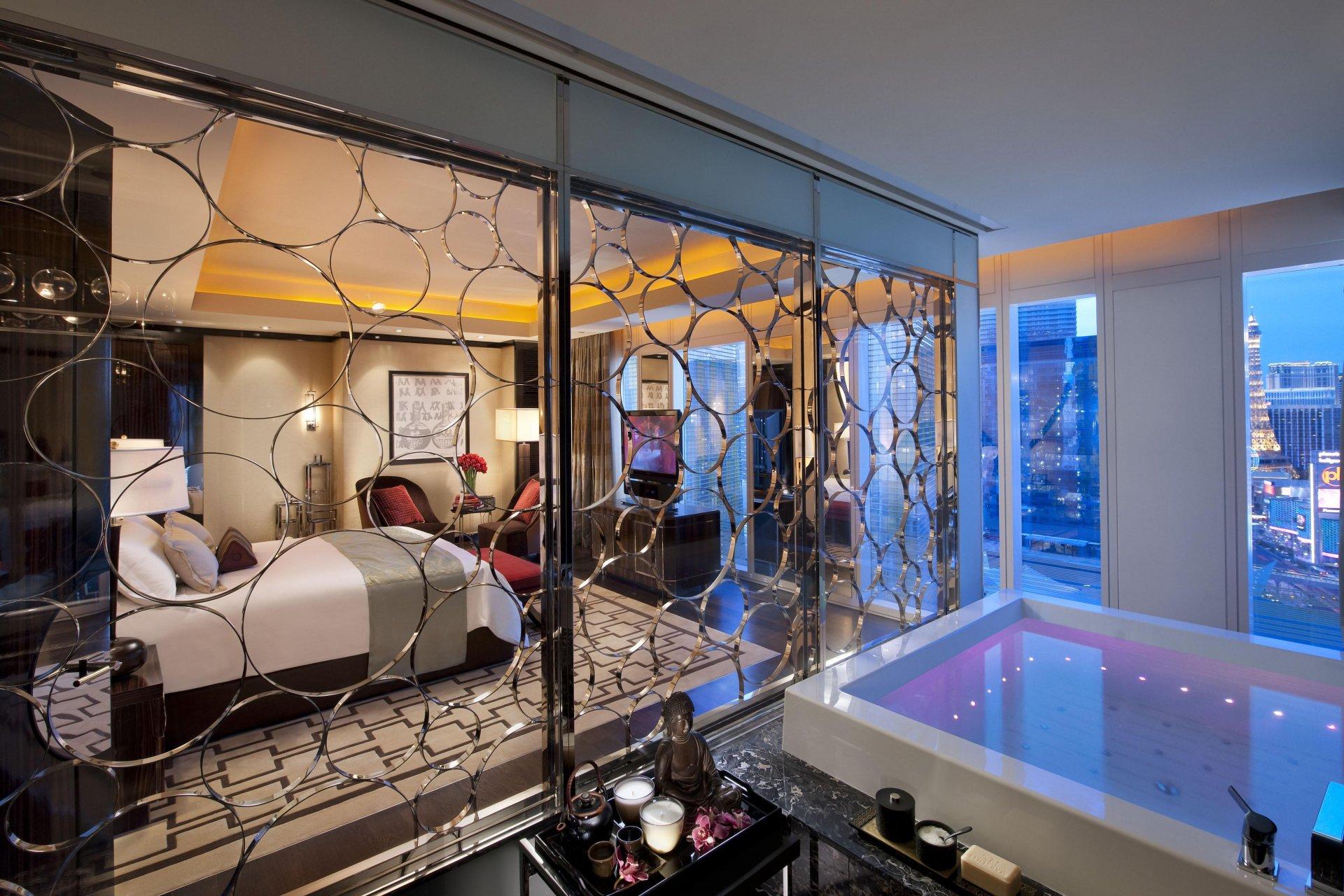 Гостиная с видом на Las-Vegas бесплатно
