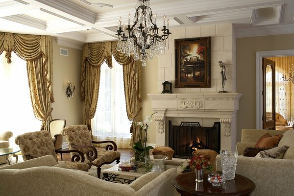 Traditional formal living room decorating ideas