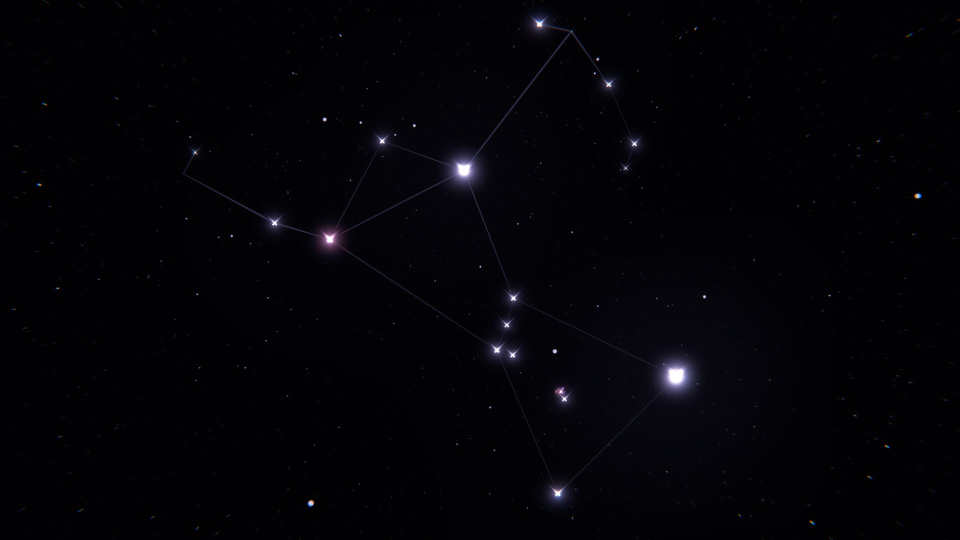orion distinct group of stars Orion the hunter famous for bold stars and strong, linear features, the hunter trims his warrior  distinct object from the orion nebula a  a group of stars forming a head, four bright.