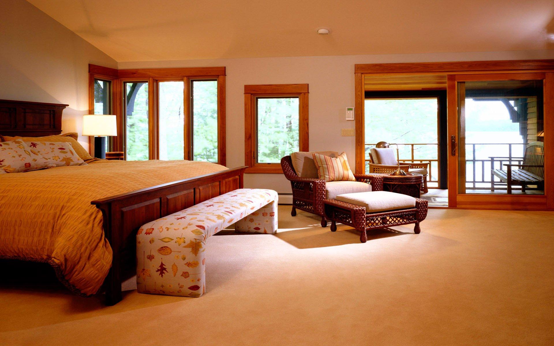 Интерьер спальня комната кровать  № 3537188 бесплатно