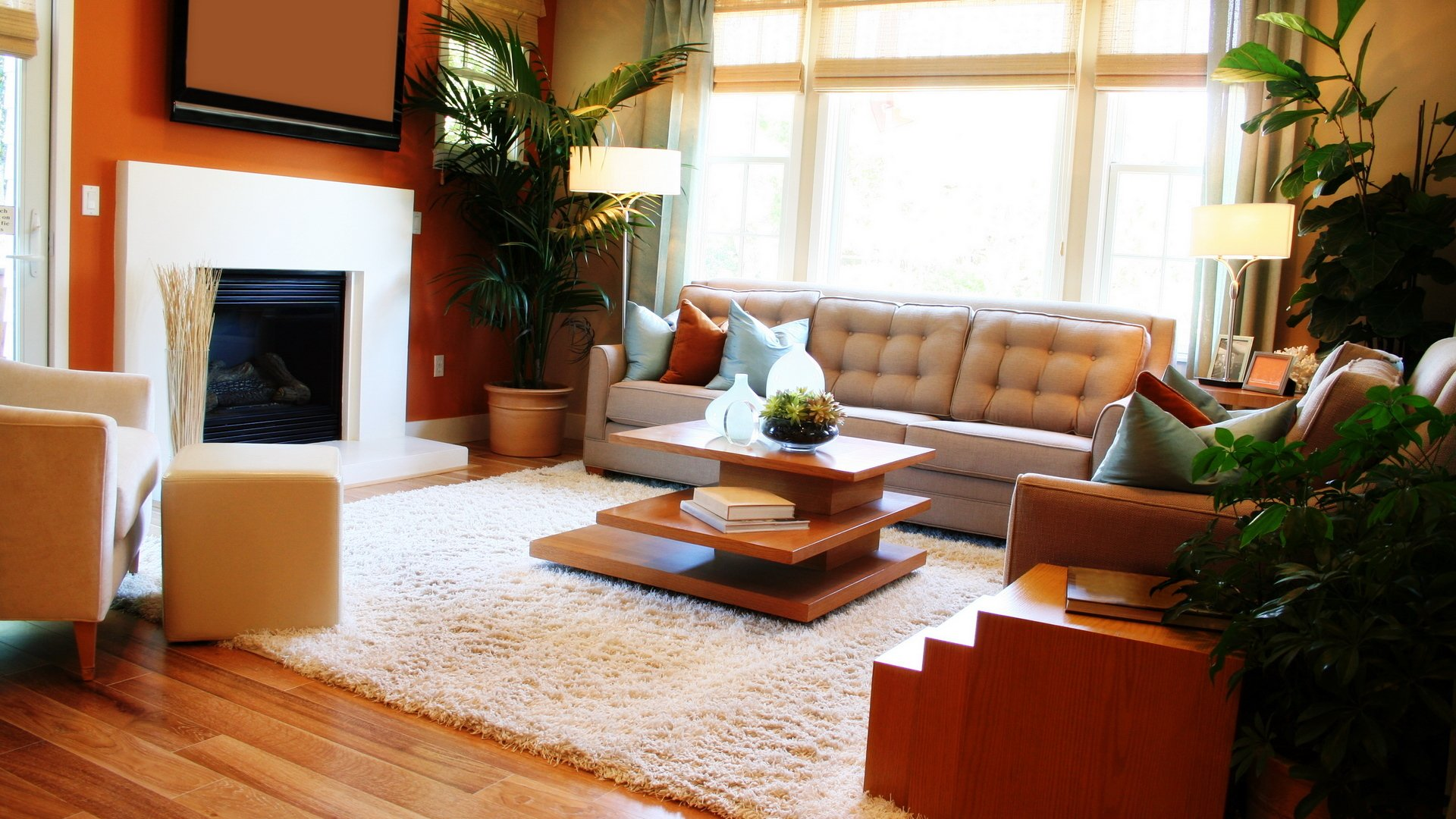 интерьер камин комната диван interior fireplace bathroom sofa онлайн
