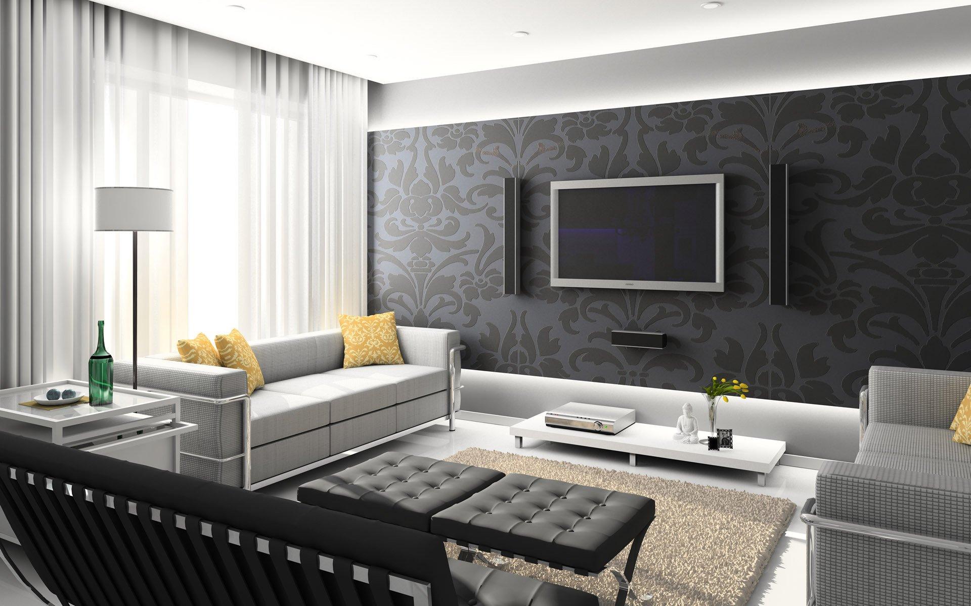 ремонт гостиной комнаты фото