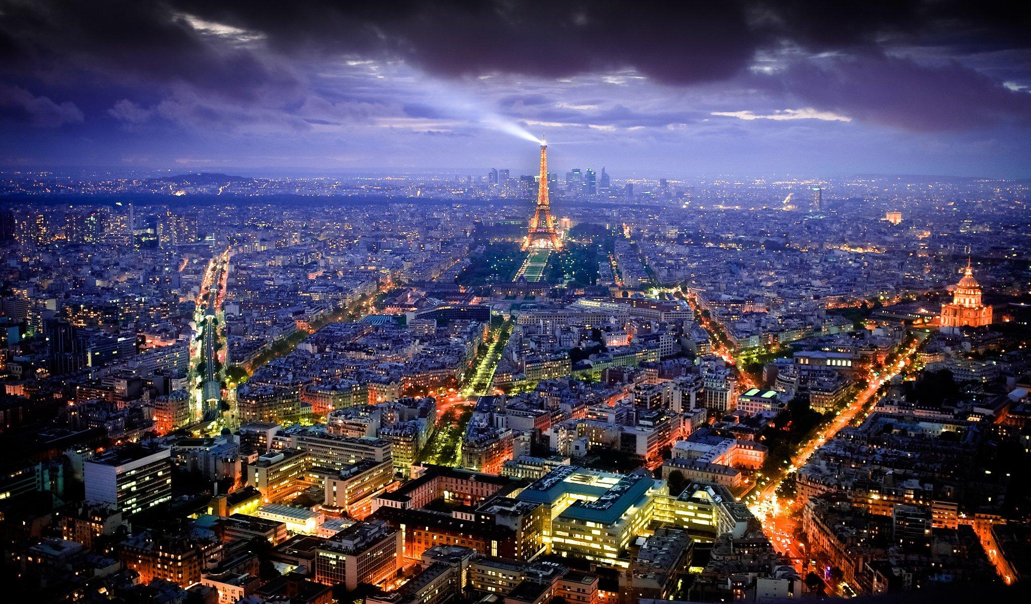 может фотообои на рабочий стол ночного города парижа букашка утратила