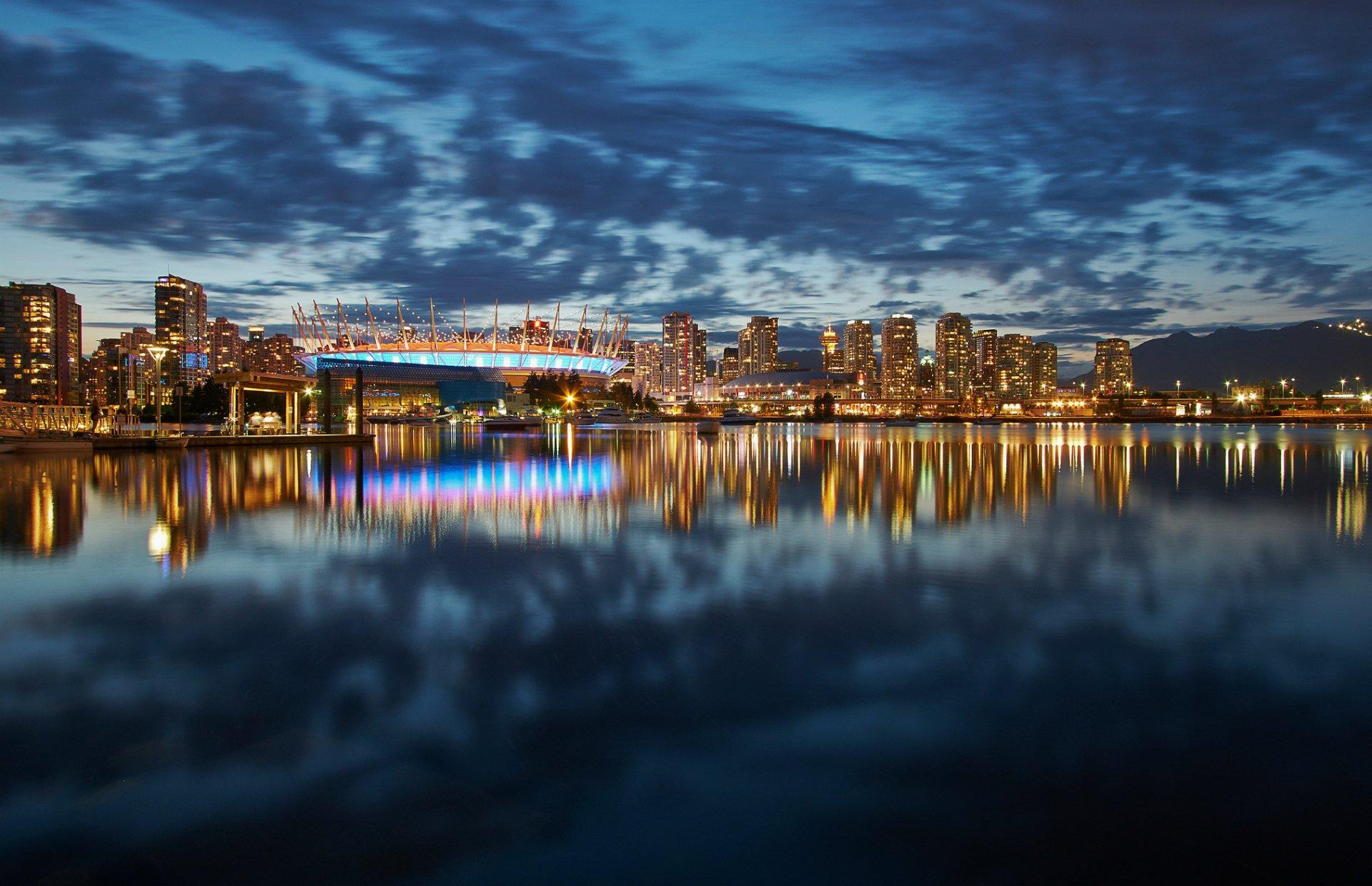 город ночь освещение отражение  № 3927561  скачать