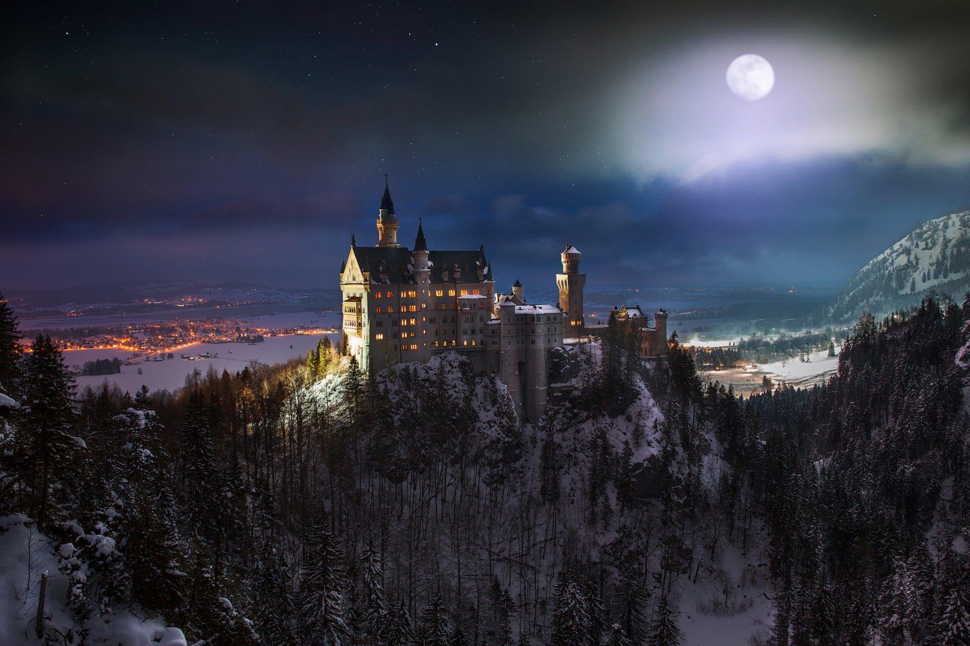 Обои юго-западная, бавария, германия, замок. Города foto 10
