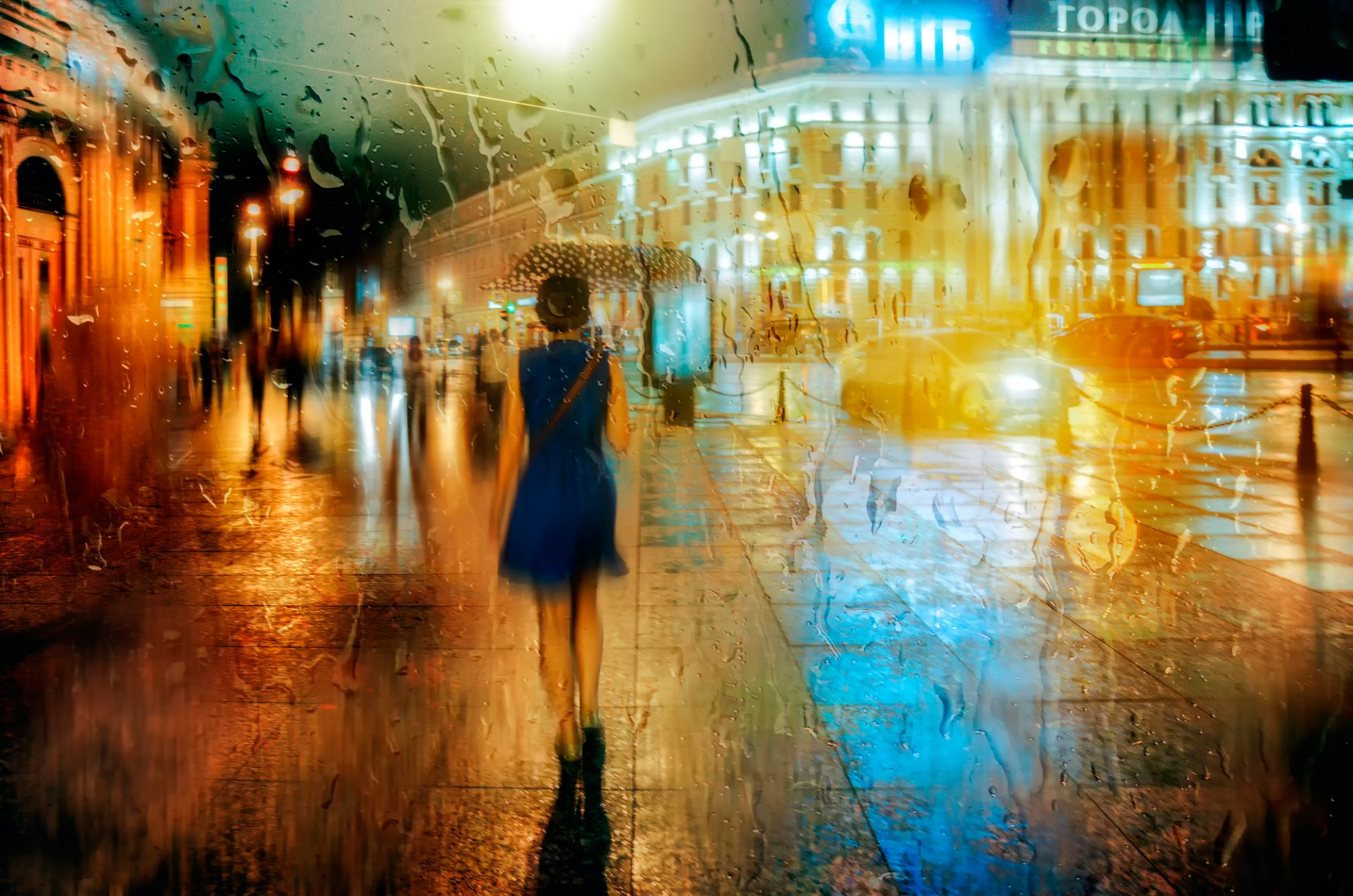 Обои зонт, капли, россия, дождь. Города foto 13