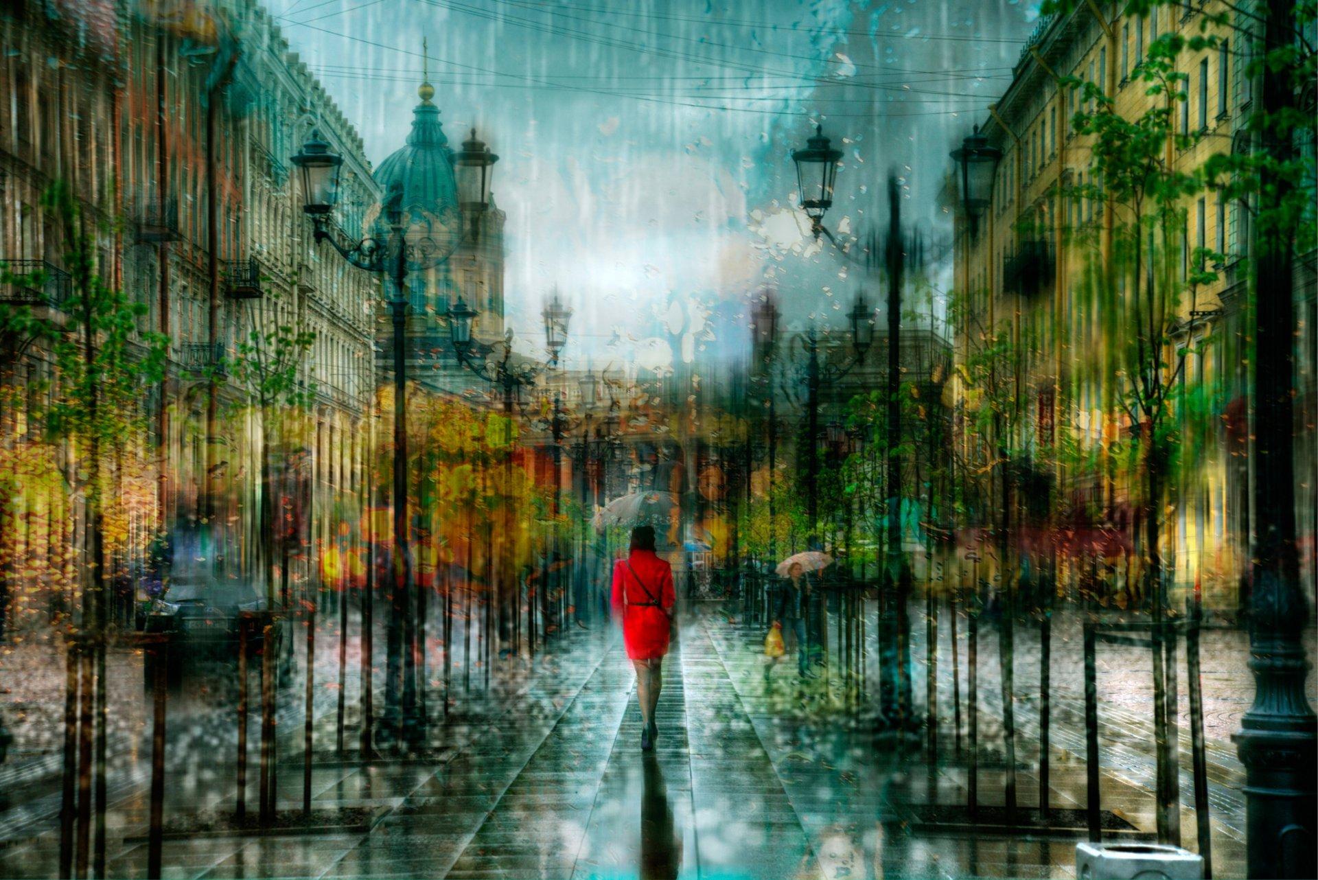 дождь питер обои для рабочего стола № 452406 бесплатно