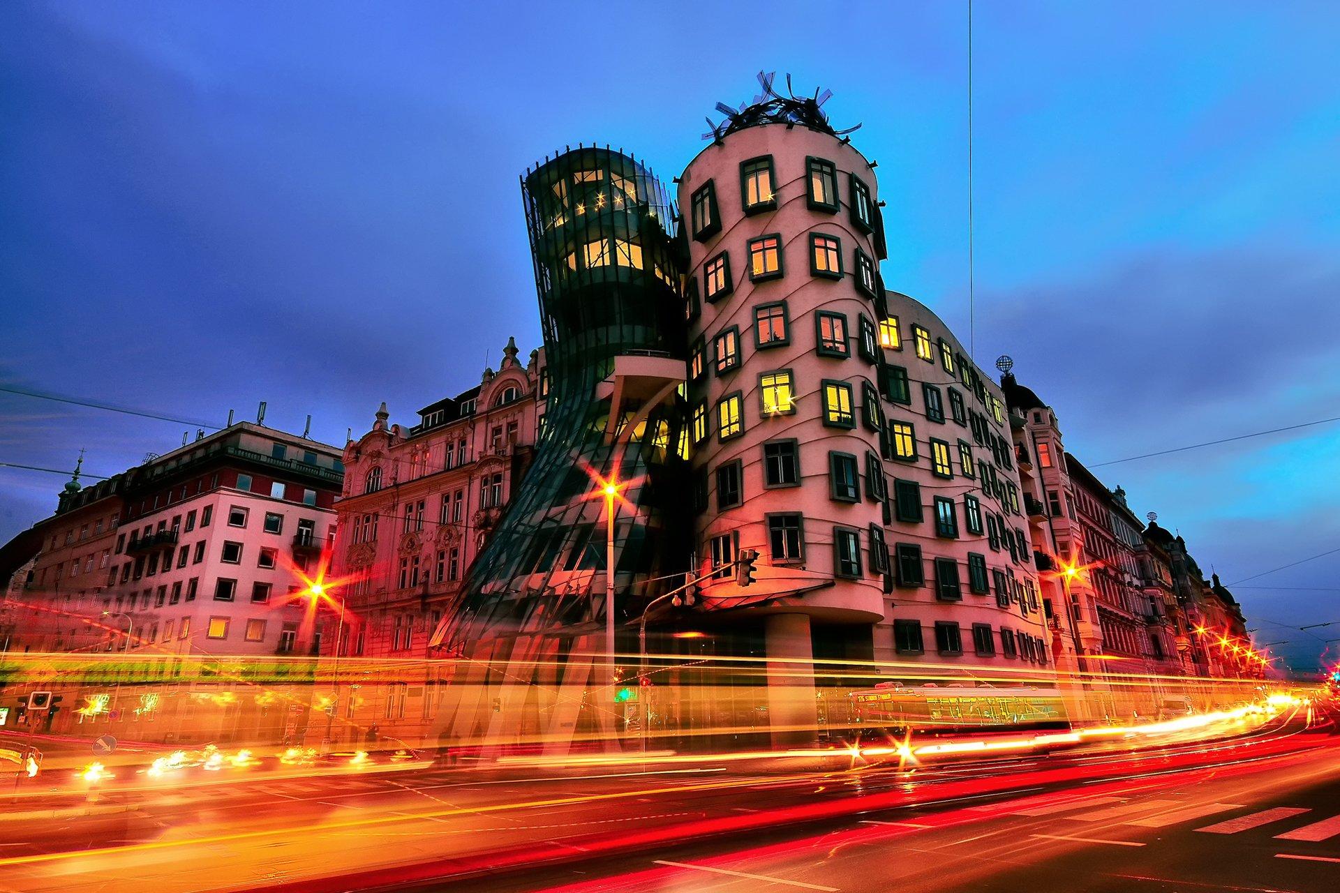 страны архитектура Прага ночь загрузить