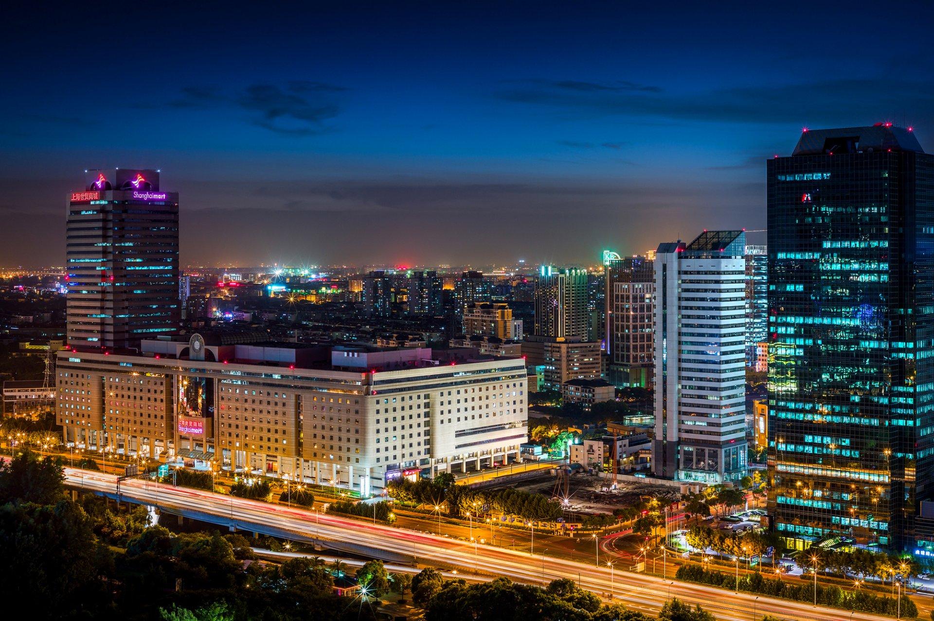 Обои небоскребы, китай, дома, улицы, шанхай, дороги. Города foto 10