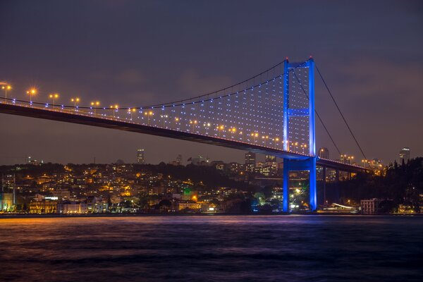 beautiful view Bosphorus Bridge at night Istanbul turkey Sea of Marmara city nature sky beautiful view Bosphorus Bridge at night Istanbul turkey Sea of Marmara city nature sky