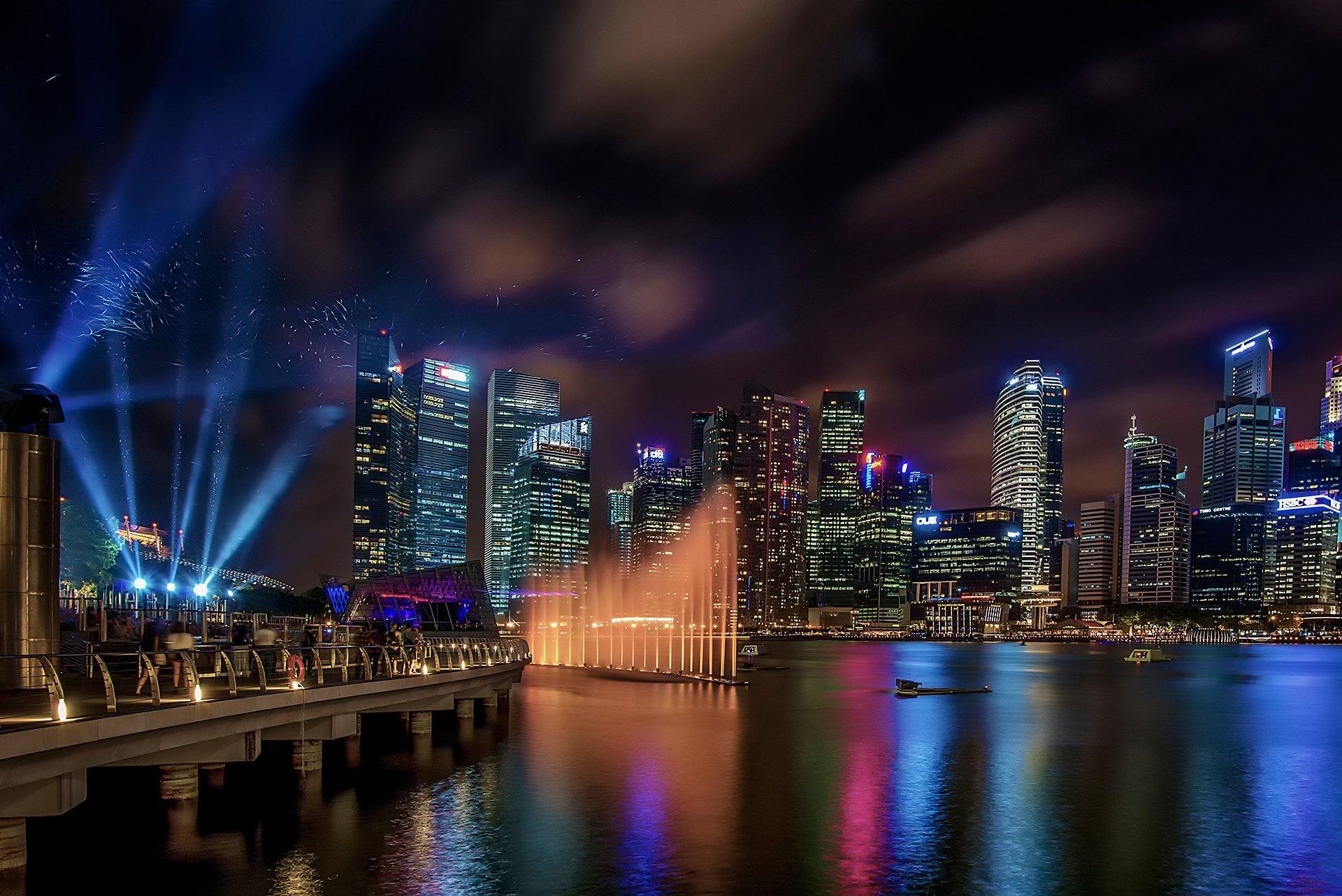 Город ночь огни Азия без смс