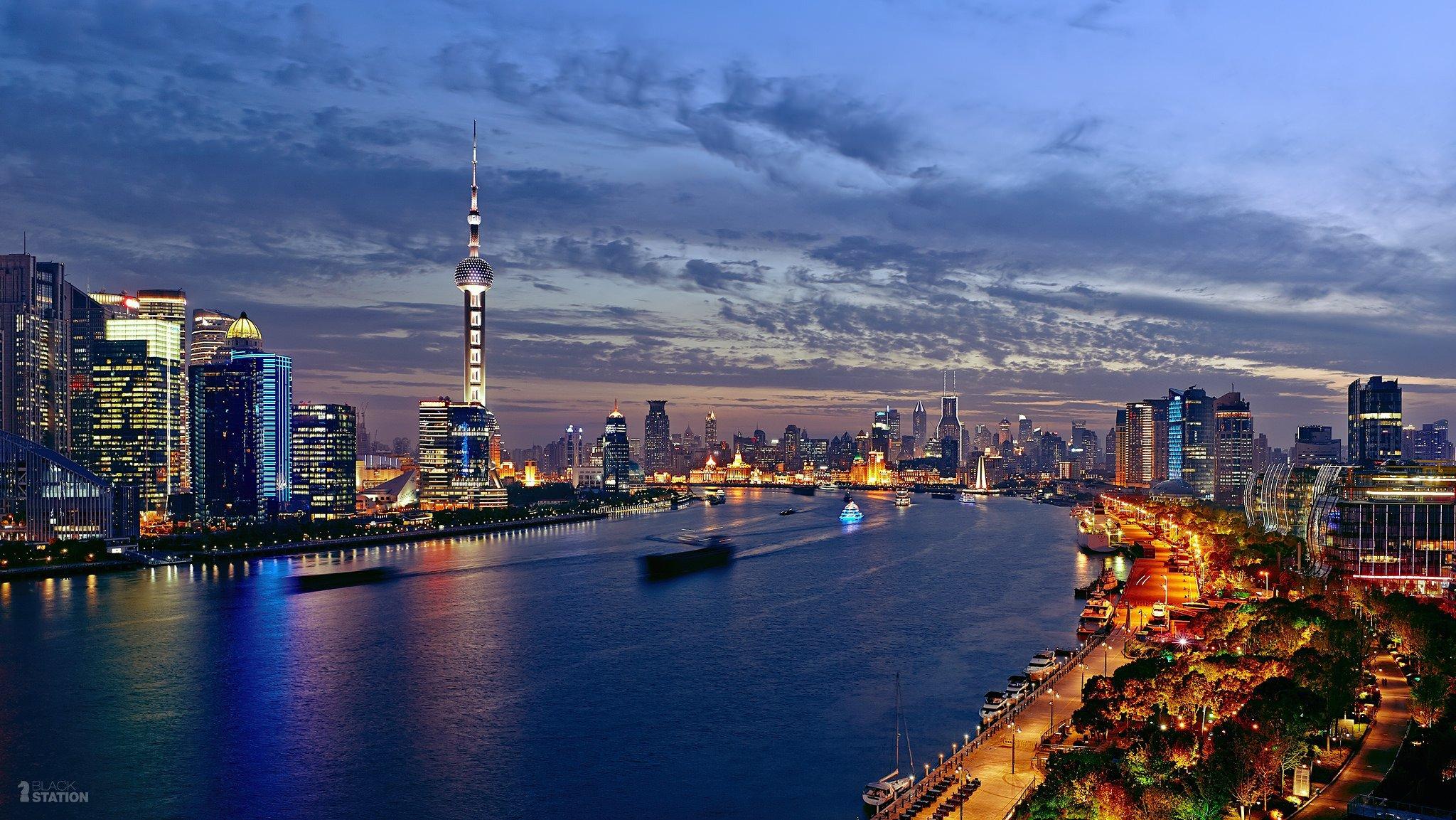 Город ночь огни Азия загрузить