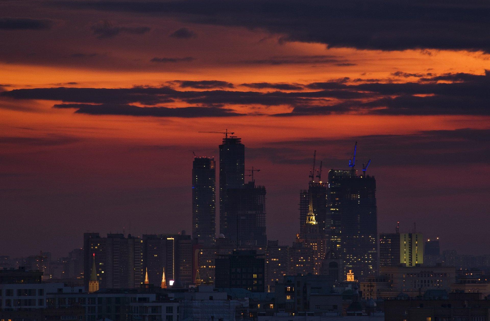 Обои обои, Облака, здания, городской пейзаж. Города foto 6