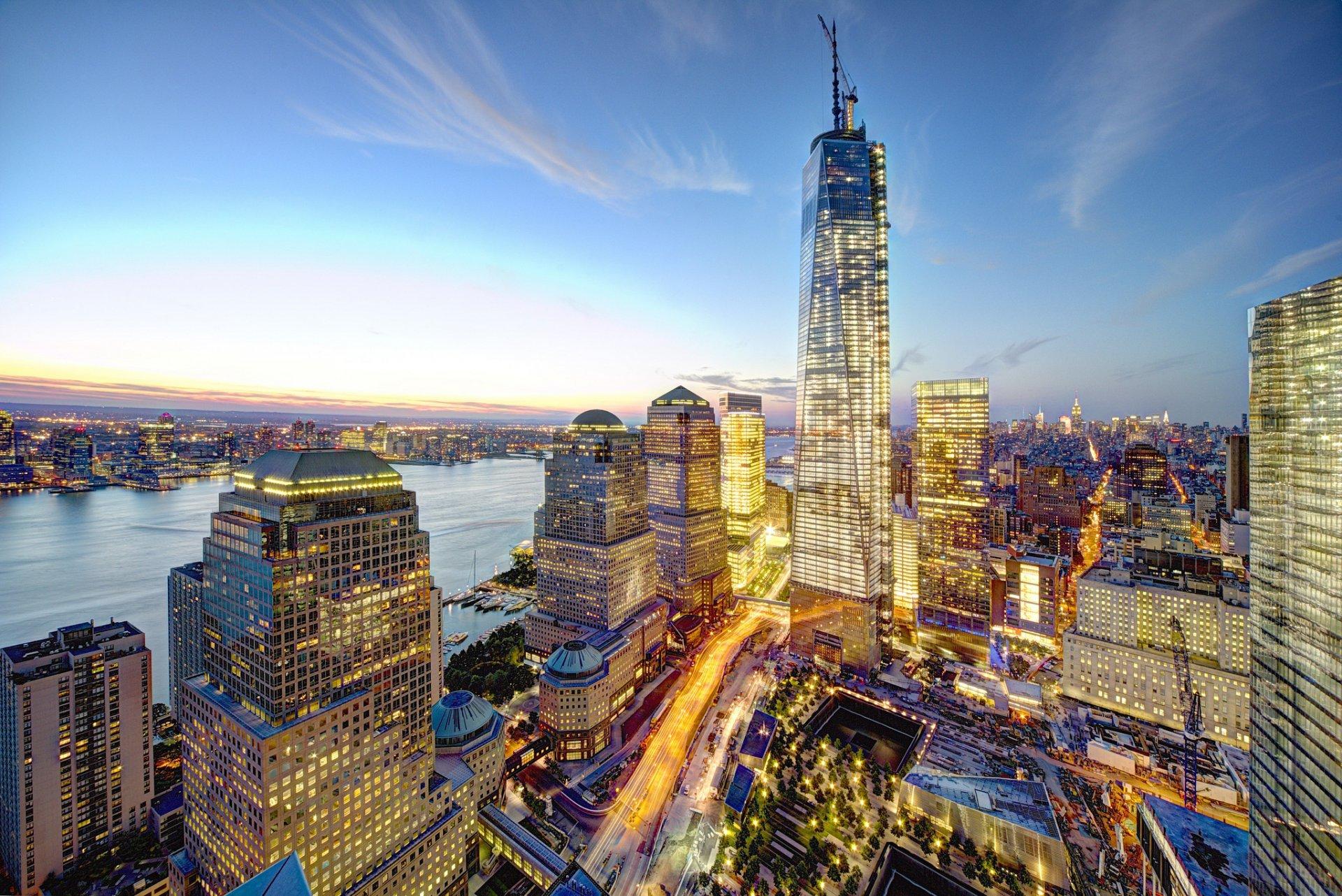 нью-йорк манхэттен 1 всемирный торговый центр башня свободы цмт сша всемирный  торговый центр город 1edf082372f