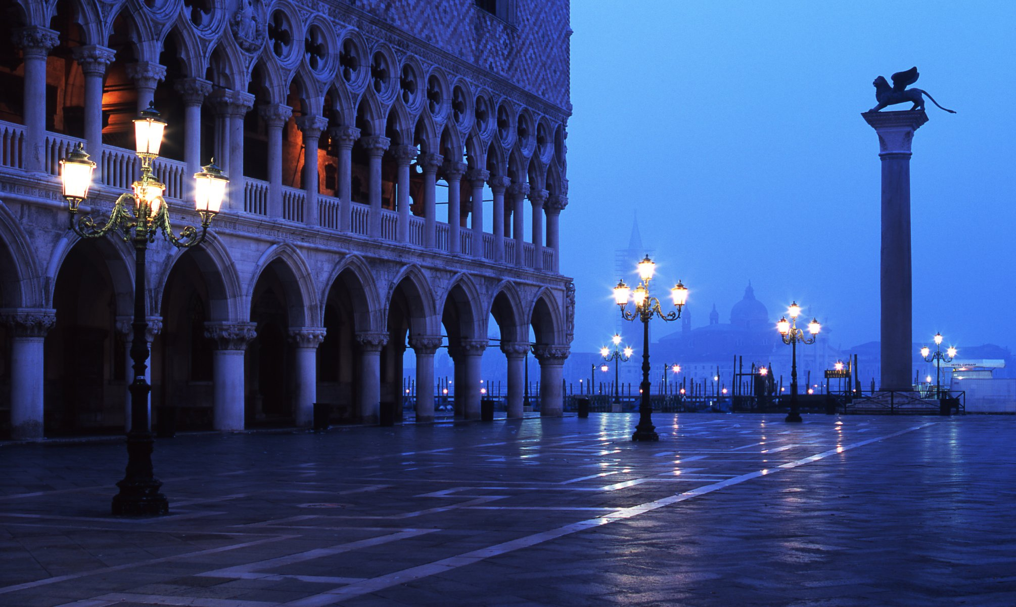 Обои дворец дожей, венеция, пьяцетта, Колонна Святого Марка. Города foto 11