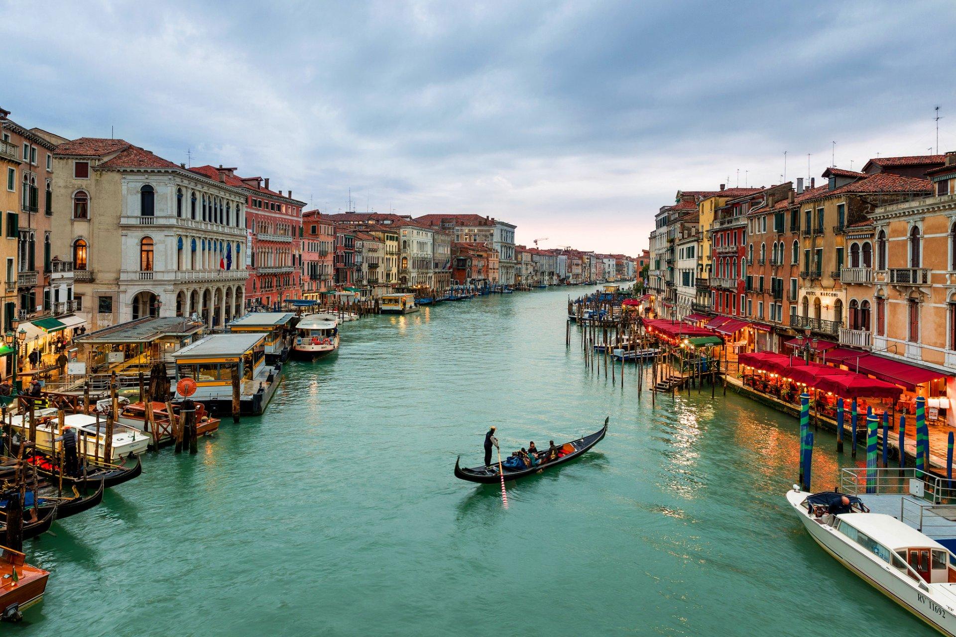 Обои венеция, italy, гондолы, здания, лодки, канал, venice. Города foto 14