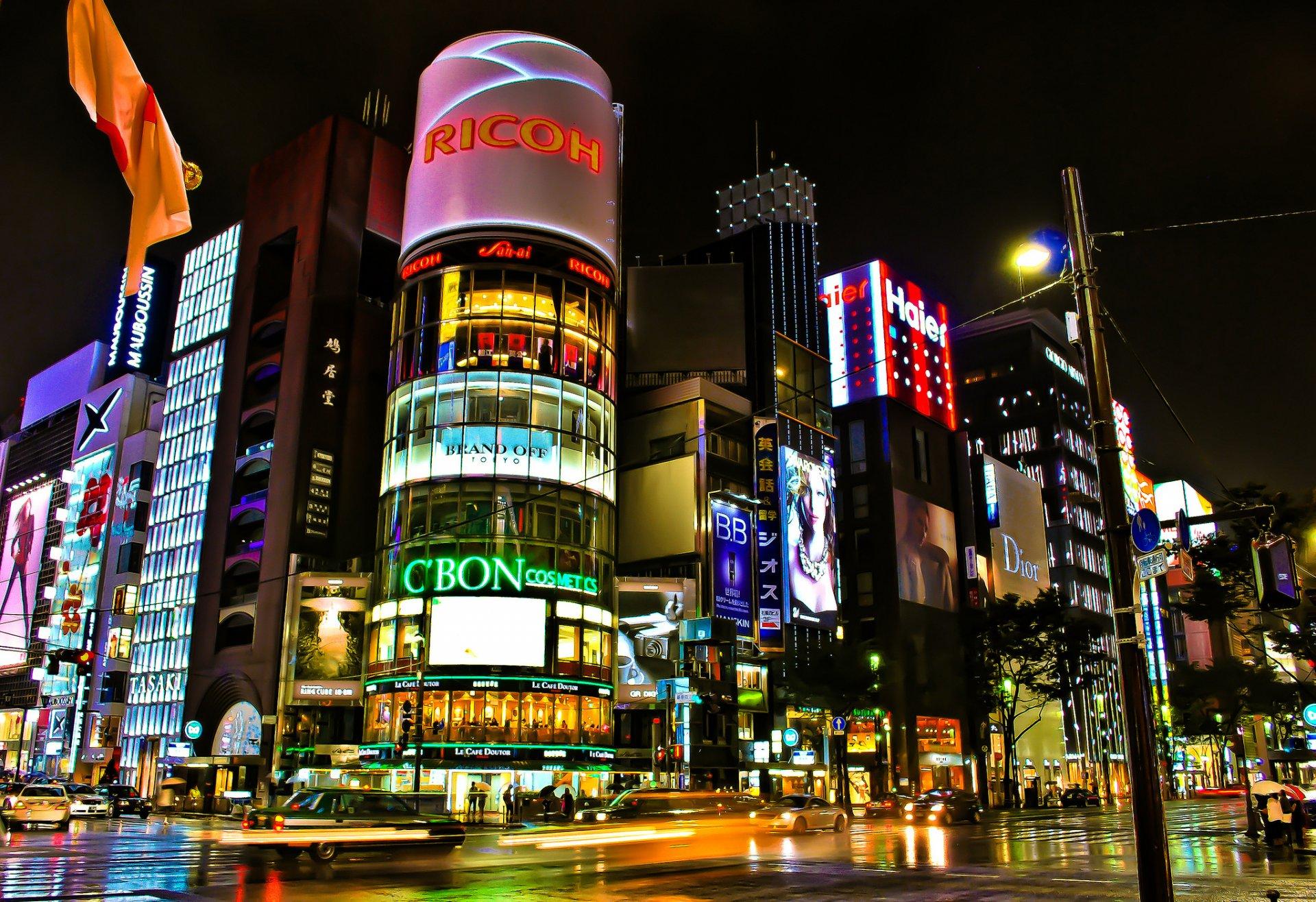 Обои Япония, ночь. Города foto 15