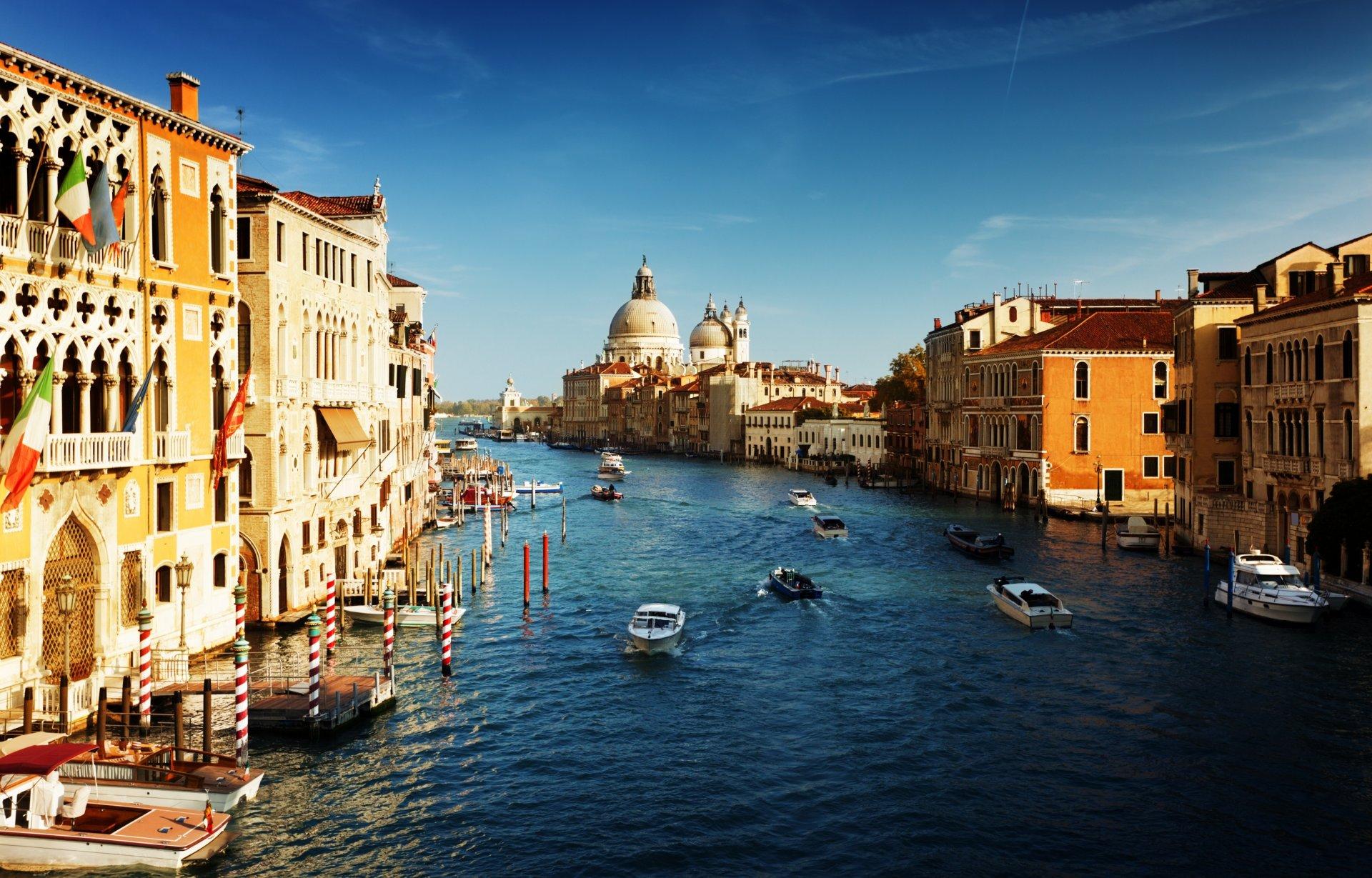 Обои канал, венеция, лодки, дома. Города foto 18