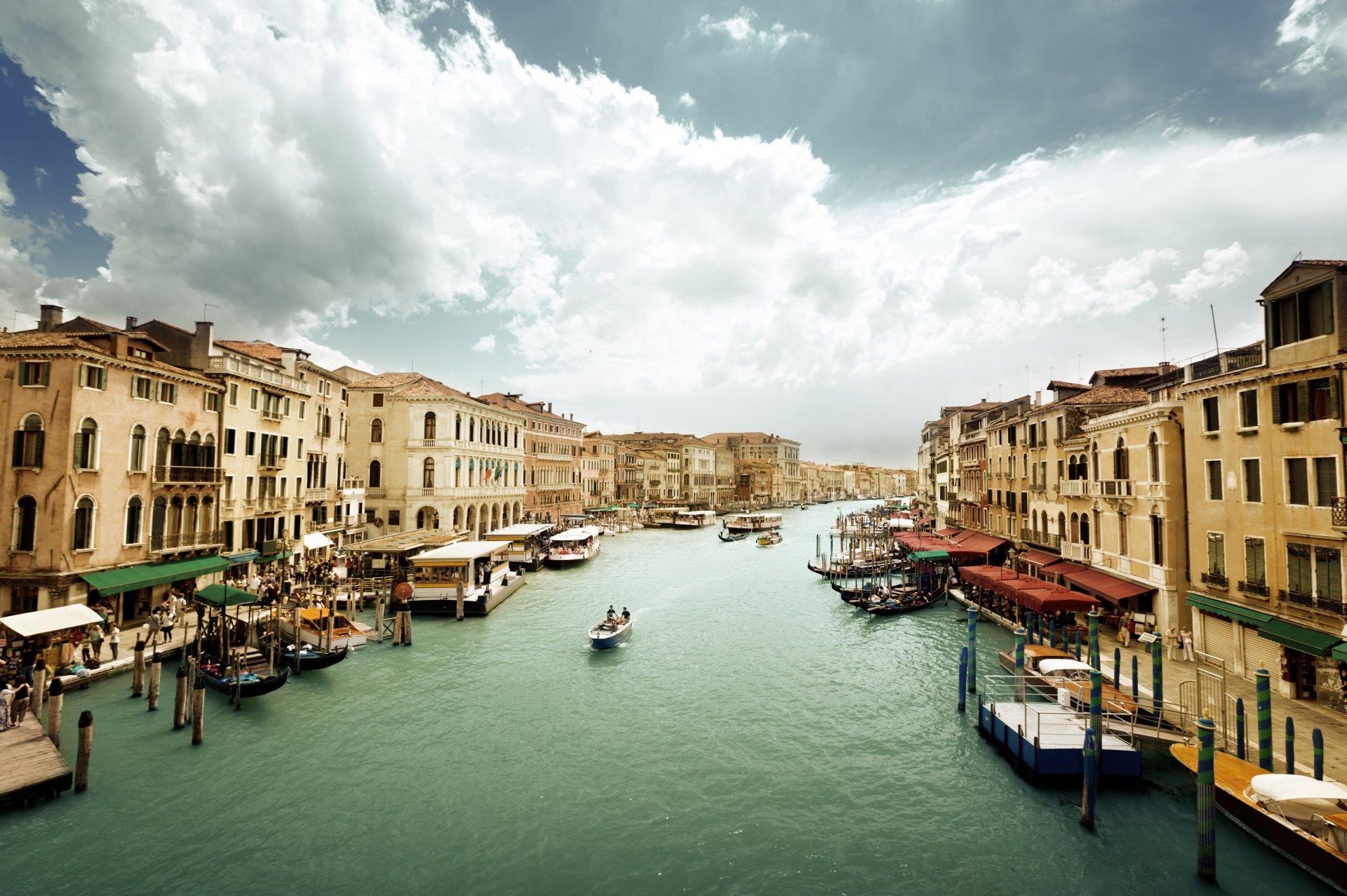 Обои венеция, italy, гондолы, здания, лодки, канал, venice. Города foto 18