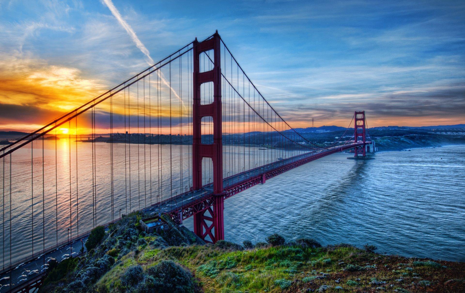 Обои Сан франциско, сша, Залив, облако, туман. Города foto 12