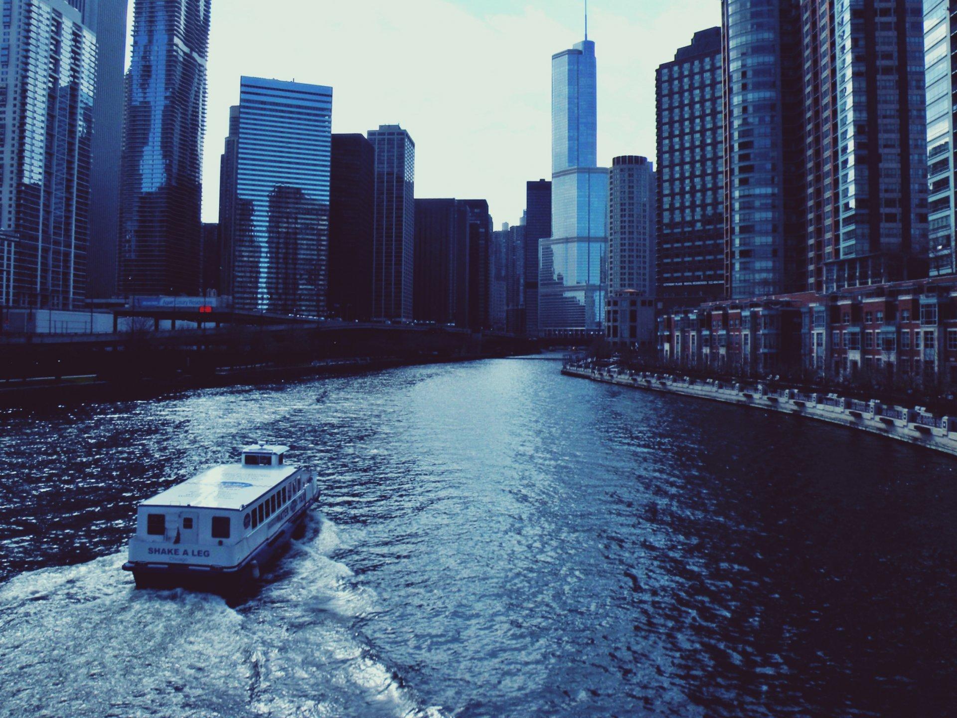 Обои высотки, чикаго, chicago, небоскребы, center. Города foto 13